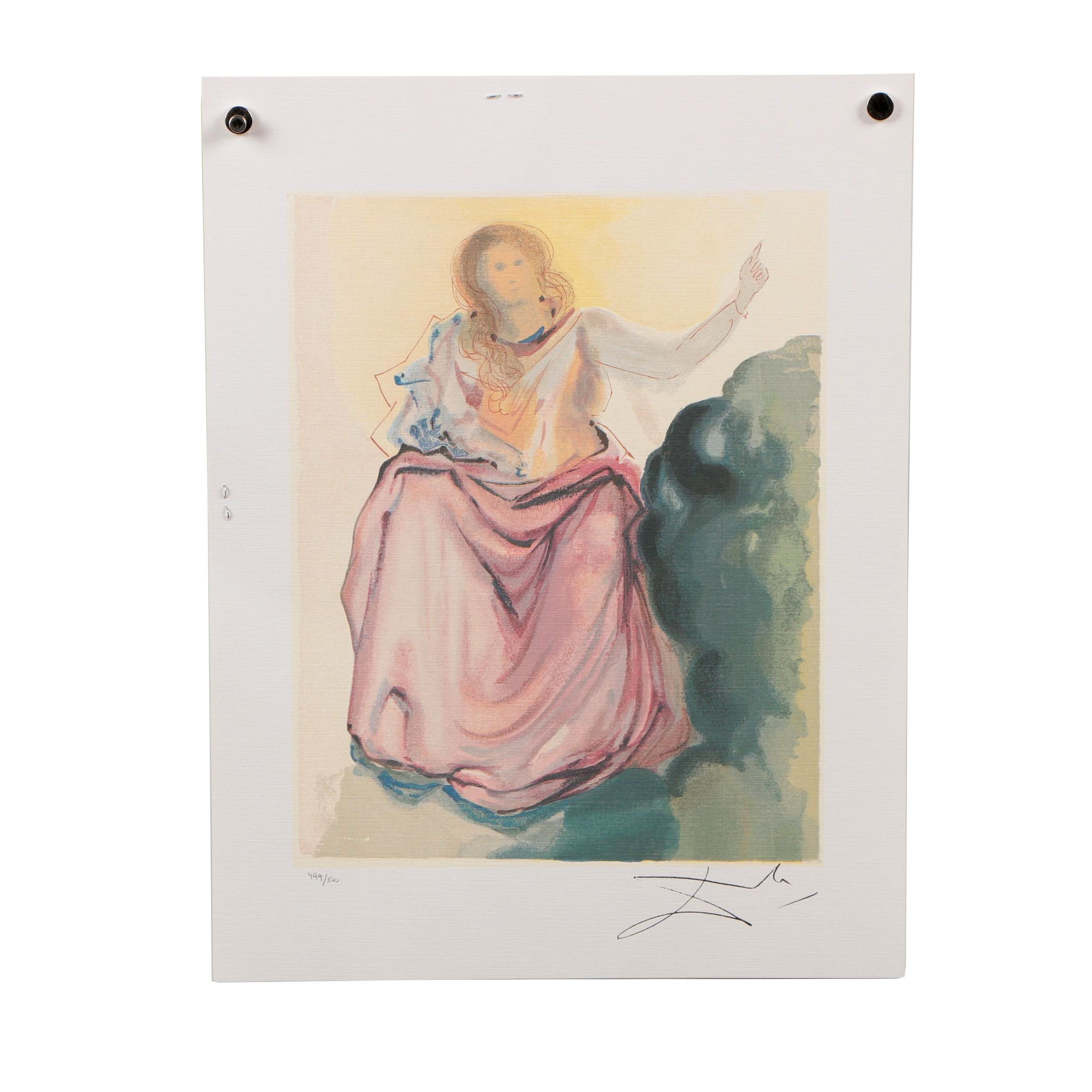 "Offset Lithograph after Salvador Dalí ""Heaven Canto 4"""