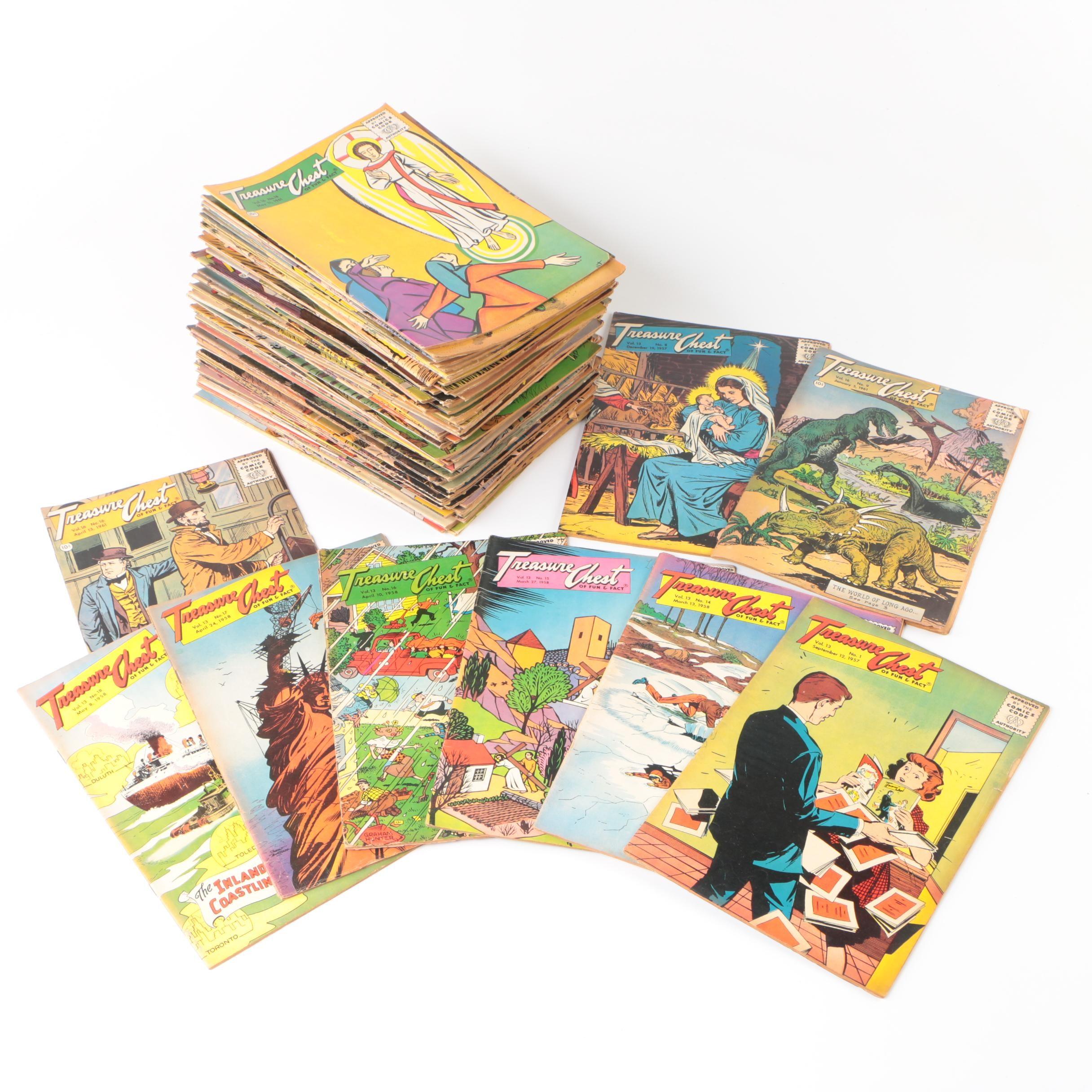"Vintage ""Treasure Chest"" Comic Books"