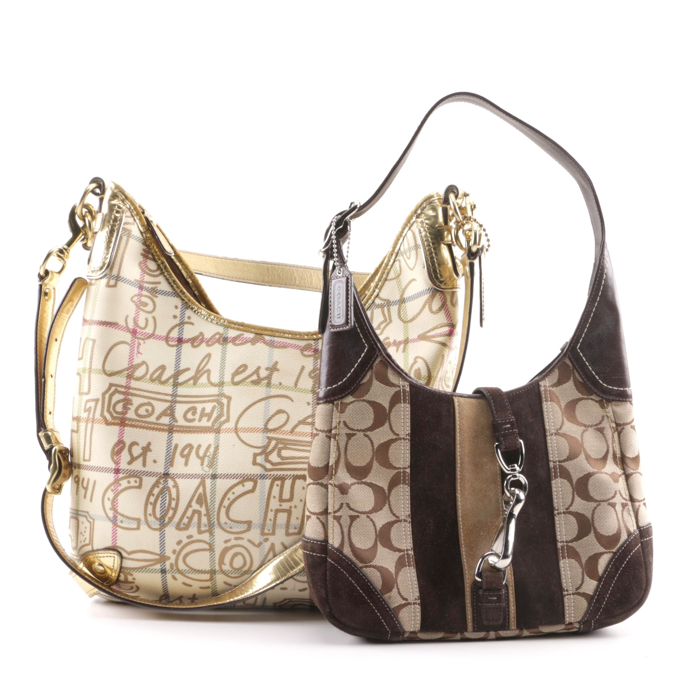 Coach Signature and Chelsea Tattersall Graffiti Hobo Bags