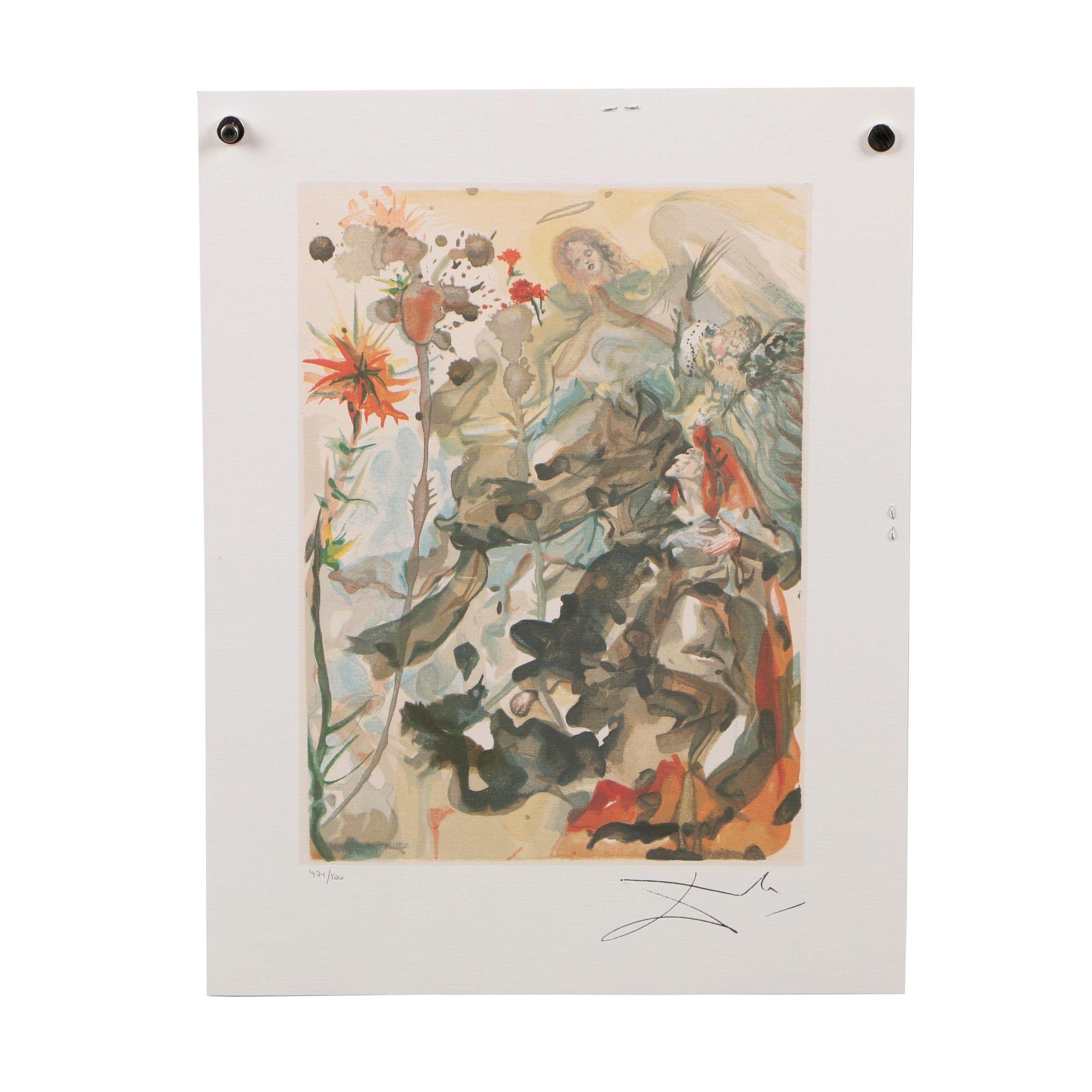 "Offset Lithograph after Salvador Dalí ""Heaven Canto 25"""