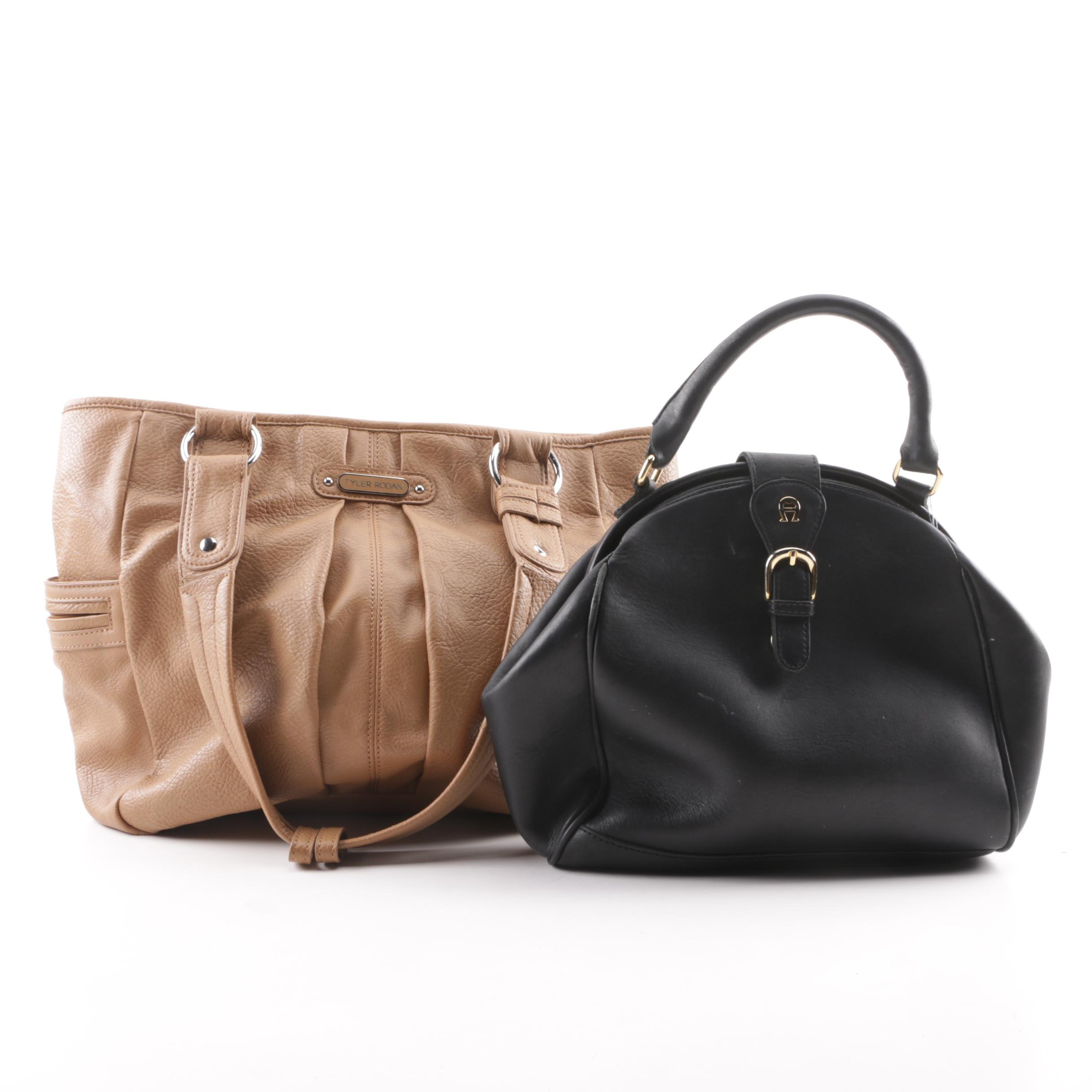 Etienne Aigner and Tyler Rodan Leather Handbags