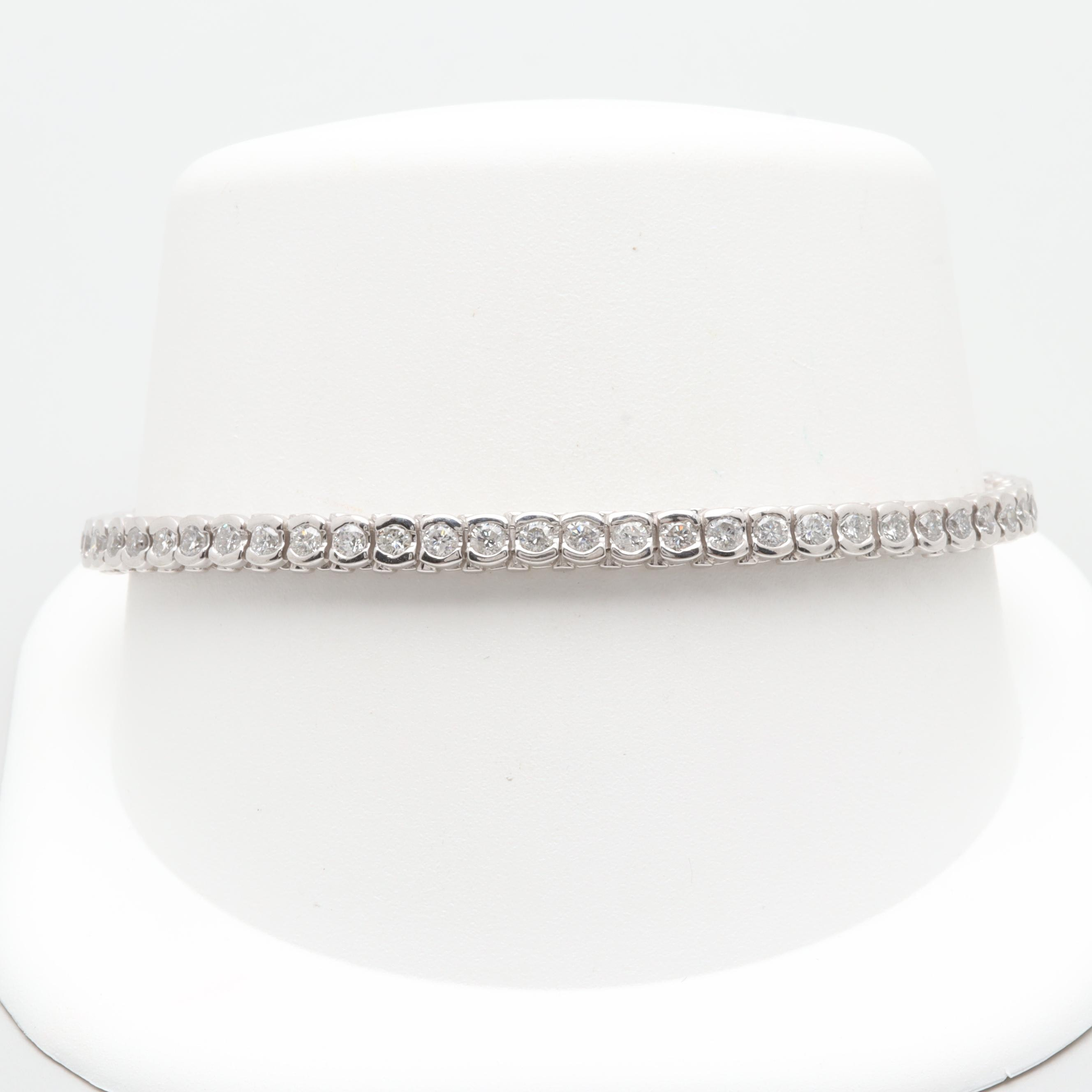 Platinum 2.78 CTW Diamond Tennis Bracelet