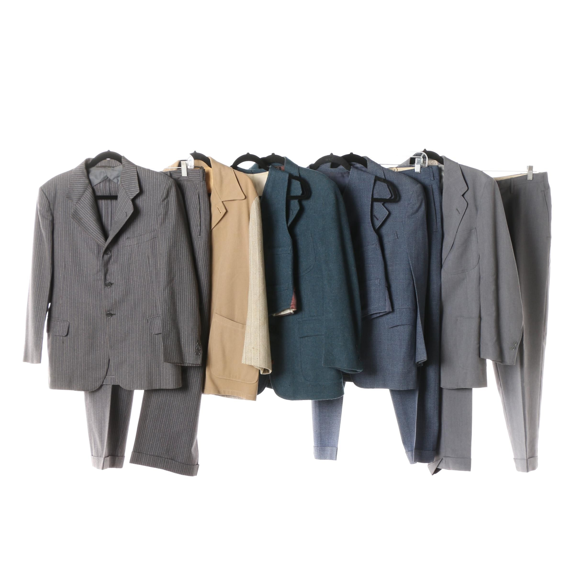 Men's Vintage Suits and Separates including Clipper Craft and Kennedy's