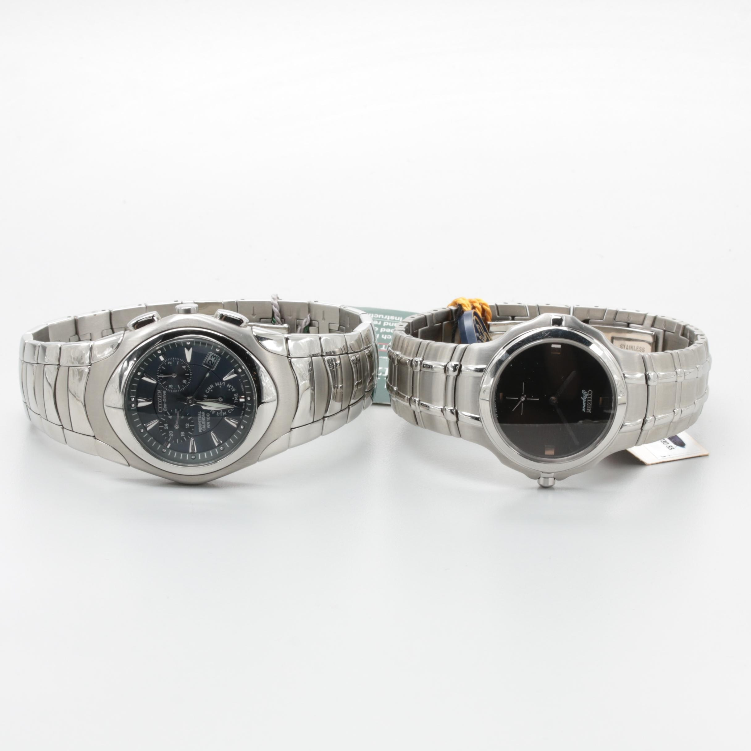 Citizen Eco-Drive and Elegance Stainless Steel Wristwatch Selection