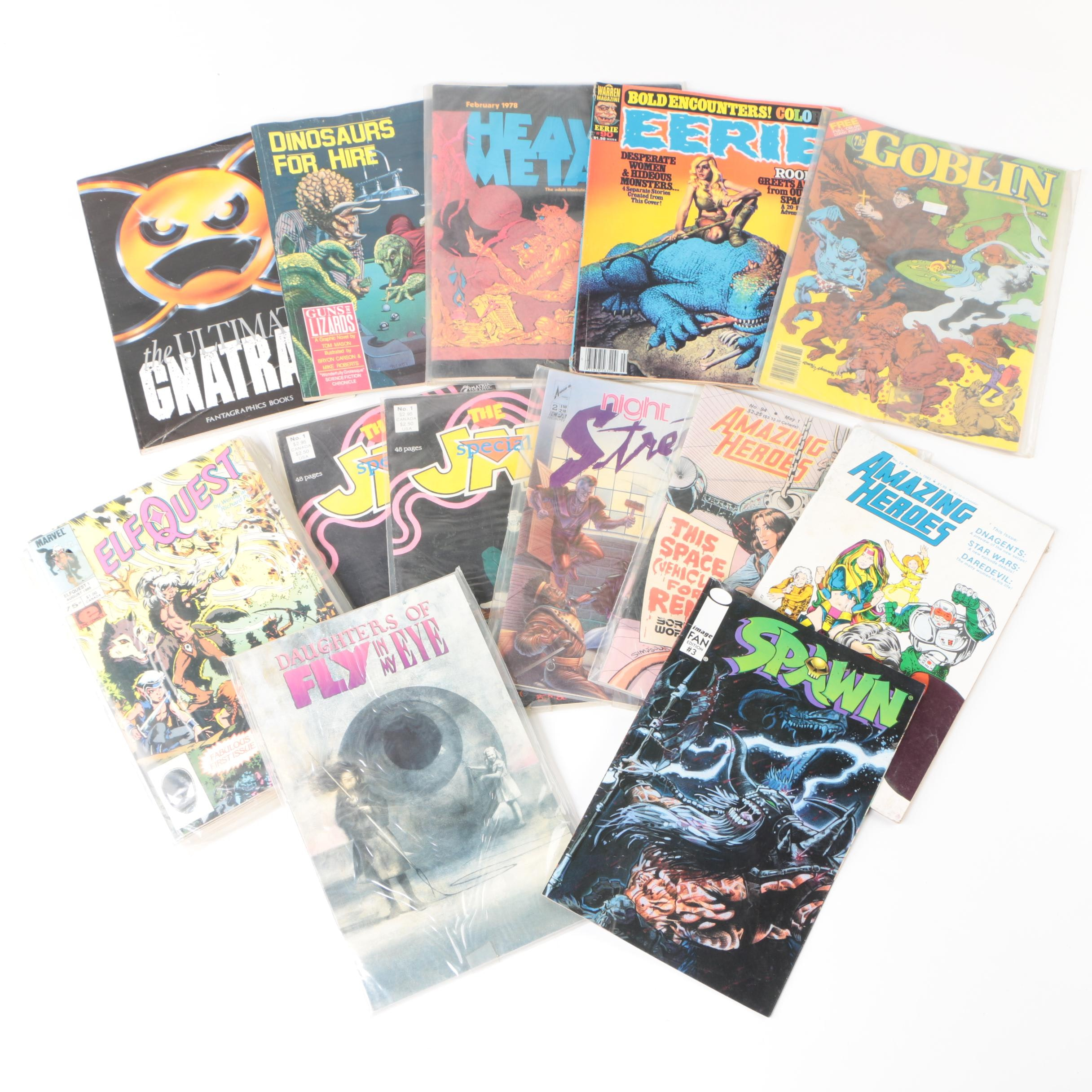"""""""Spawn"""", """"Amazing Heroes"""", """"Heavy Metal"""" and Other Vintage Comics"""