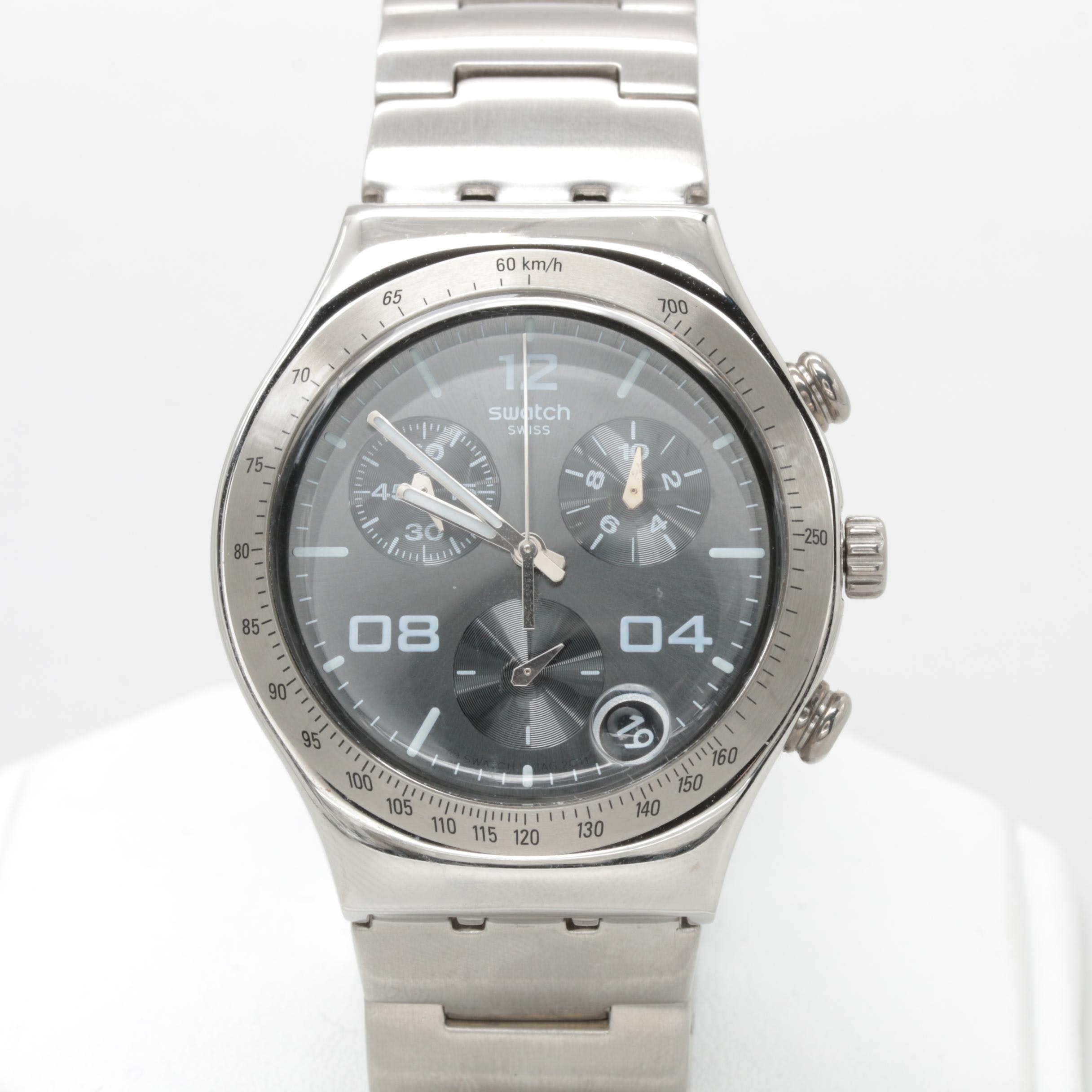 Swatch Stainless Steel Chronograph Wristwatch