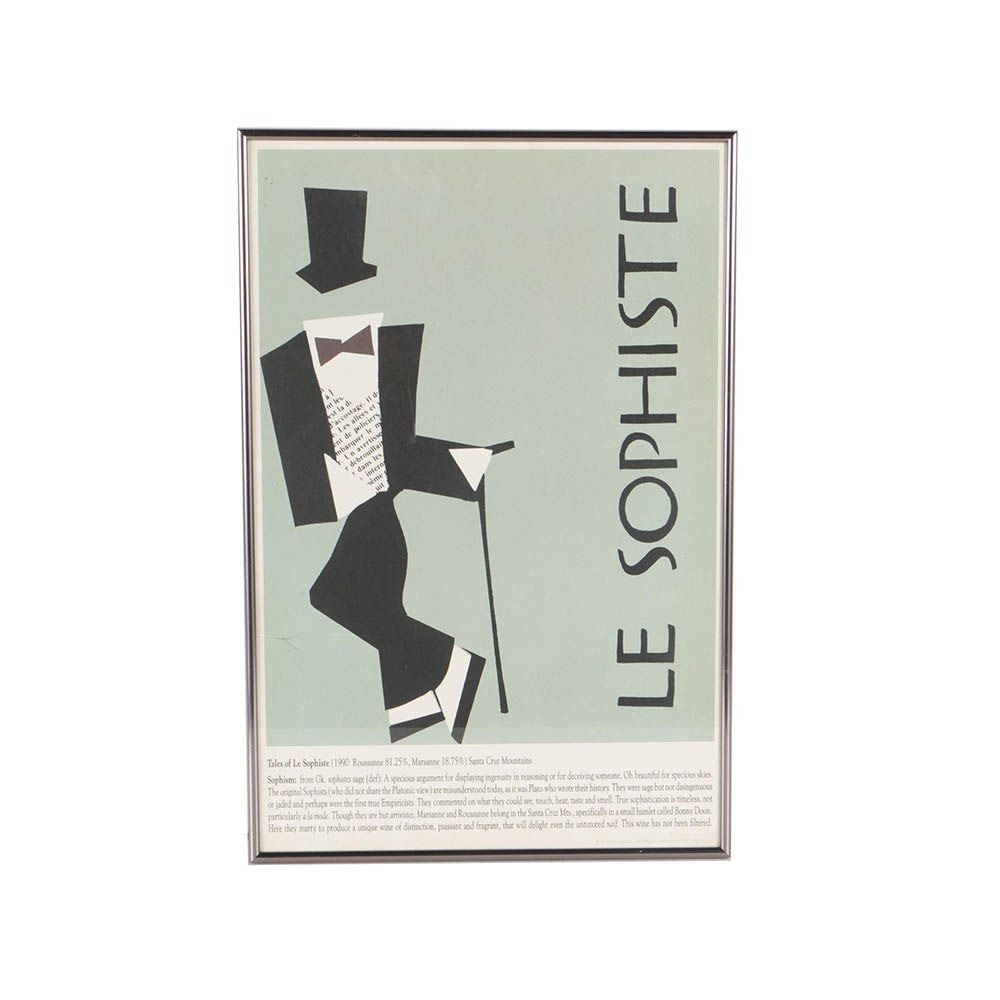 "Randall Grahm and Charles House Lithograph Poster ""Le Sophiste"""
