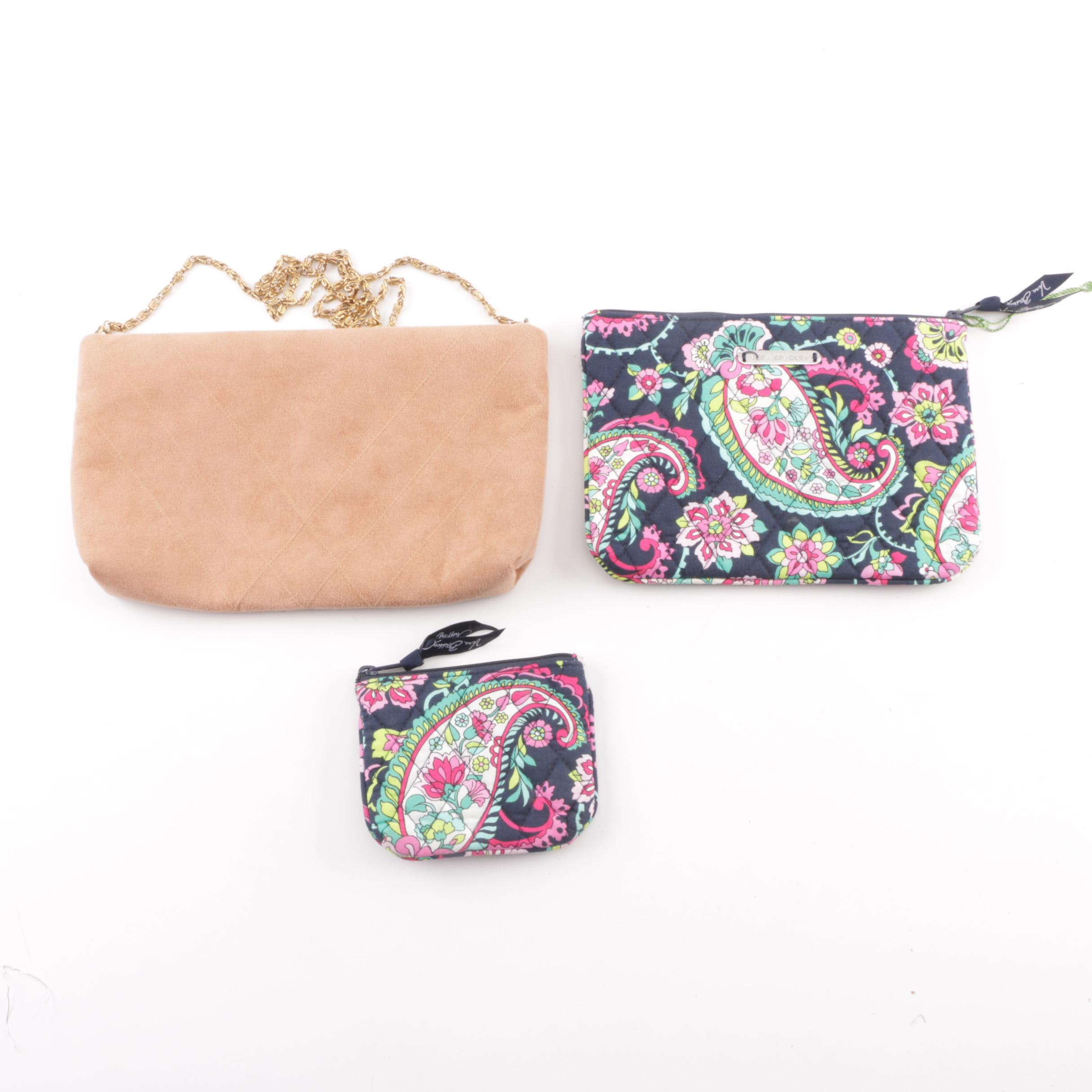 Vera Bradley Quilted Pouches and Dorothy Reeves Faux Suede Crossbody Bag