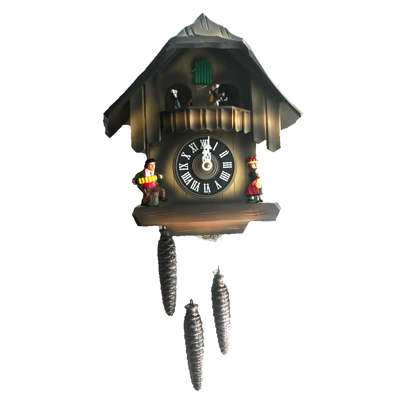 JEC German Black Forest Cuckoo Clock with Musical Dancers