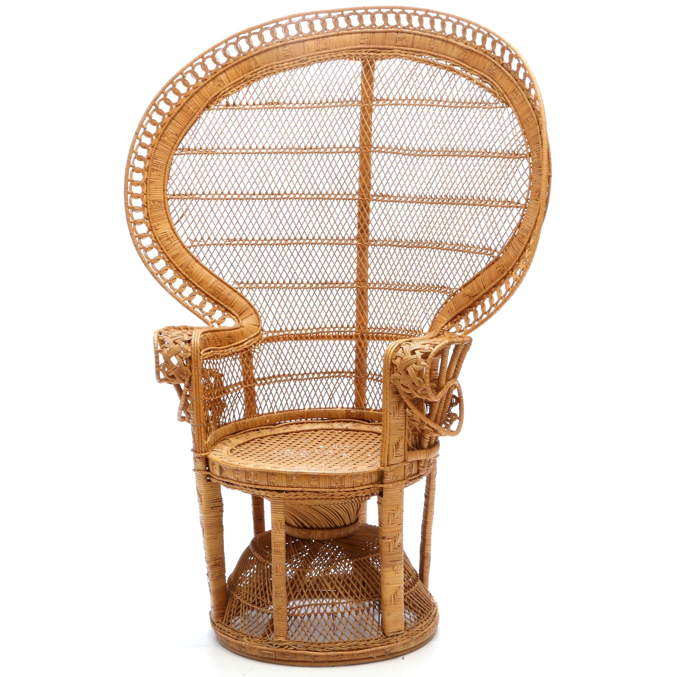 Woven Wicker Peacock Chair