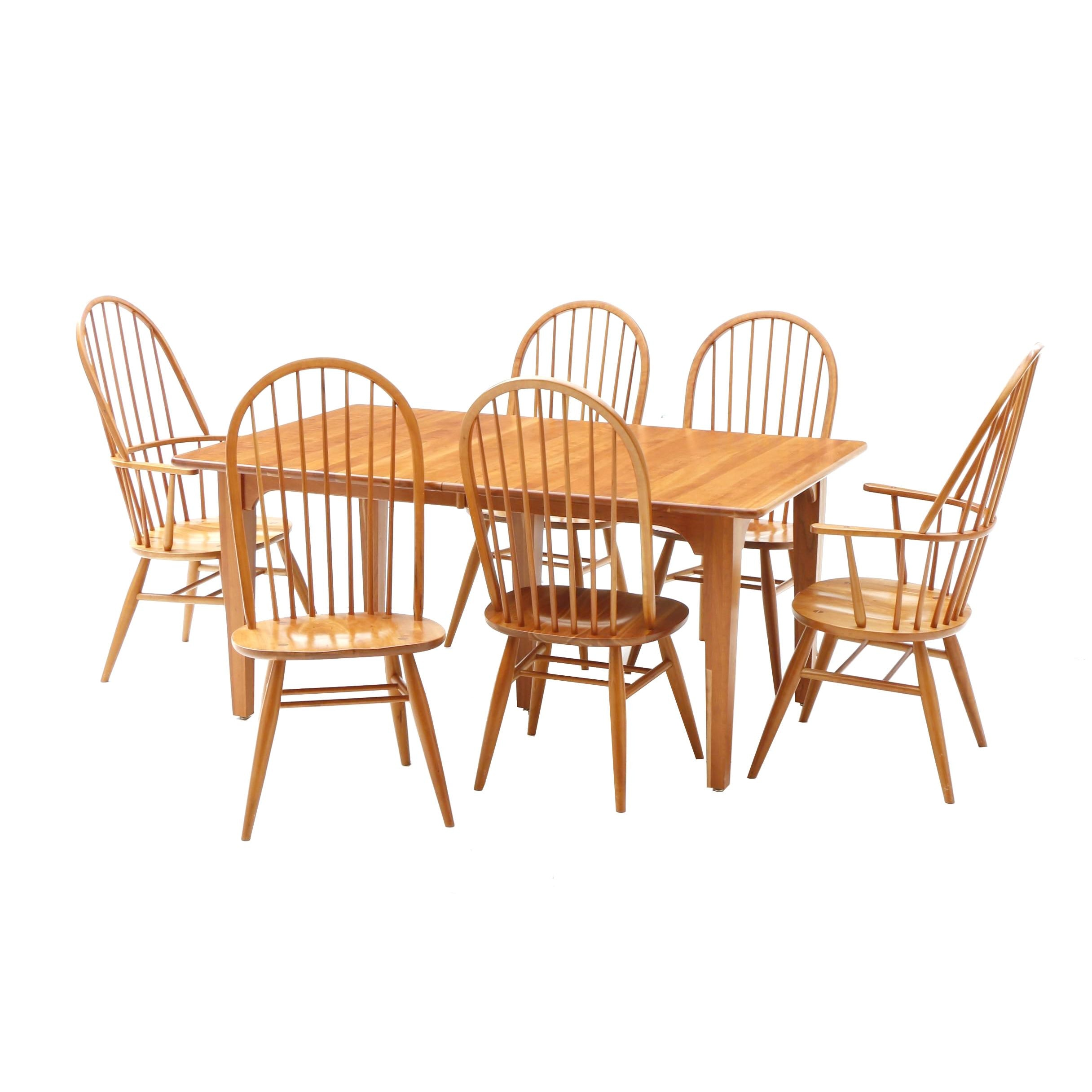 Colonial Style Dining Set With Six Chairs