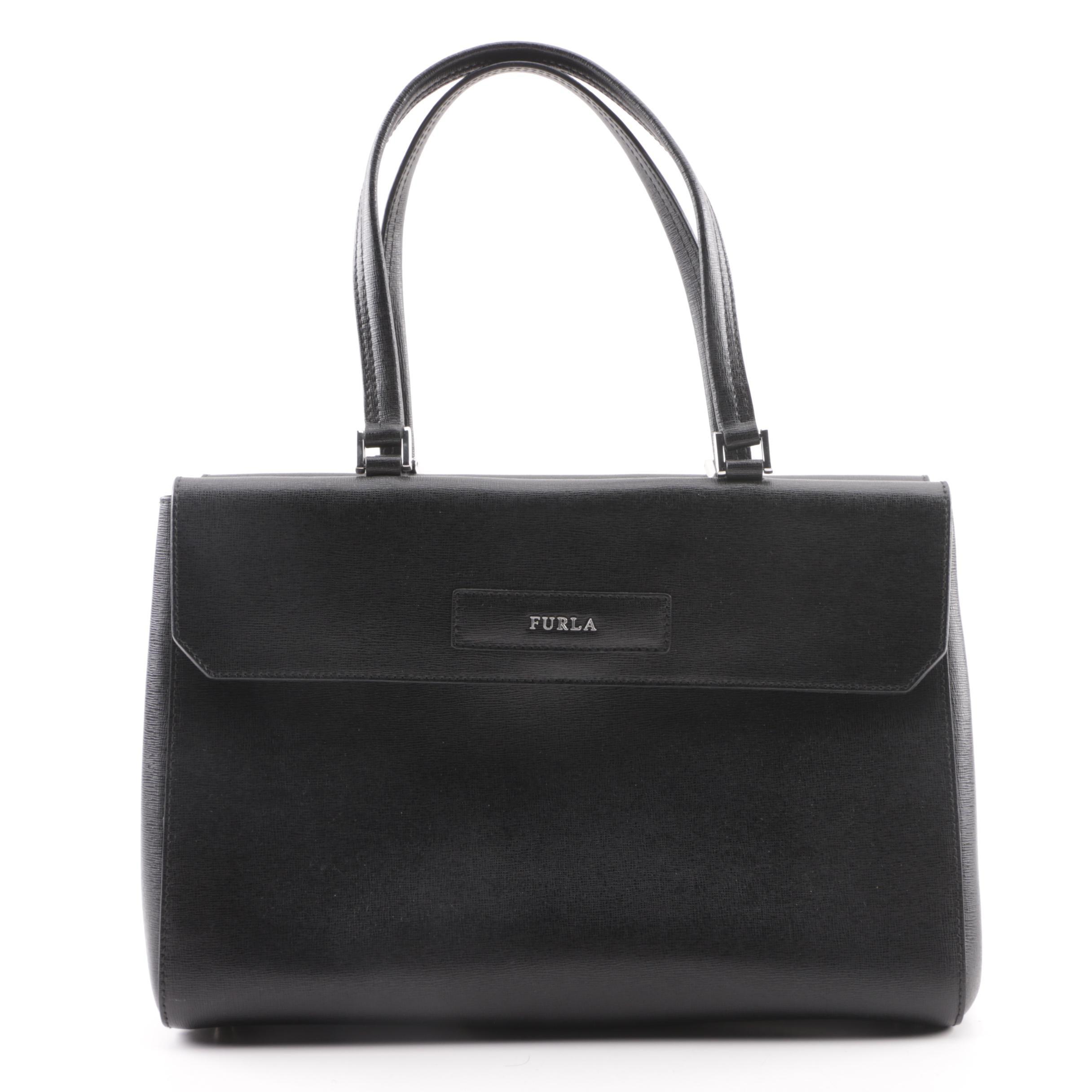 Furla Black Leather Handbag