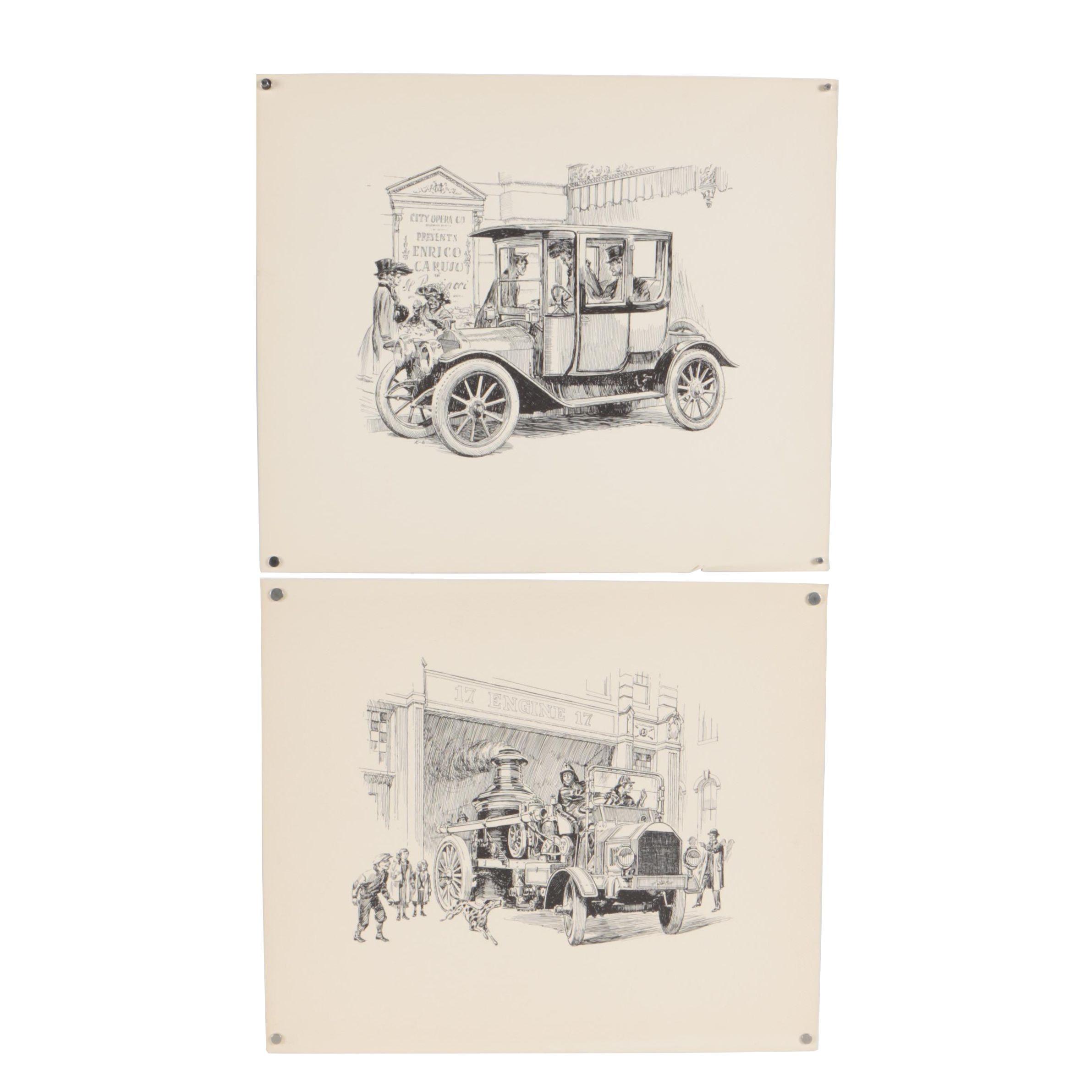 Vintage Lithographs of Genre Scenes