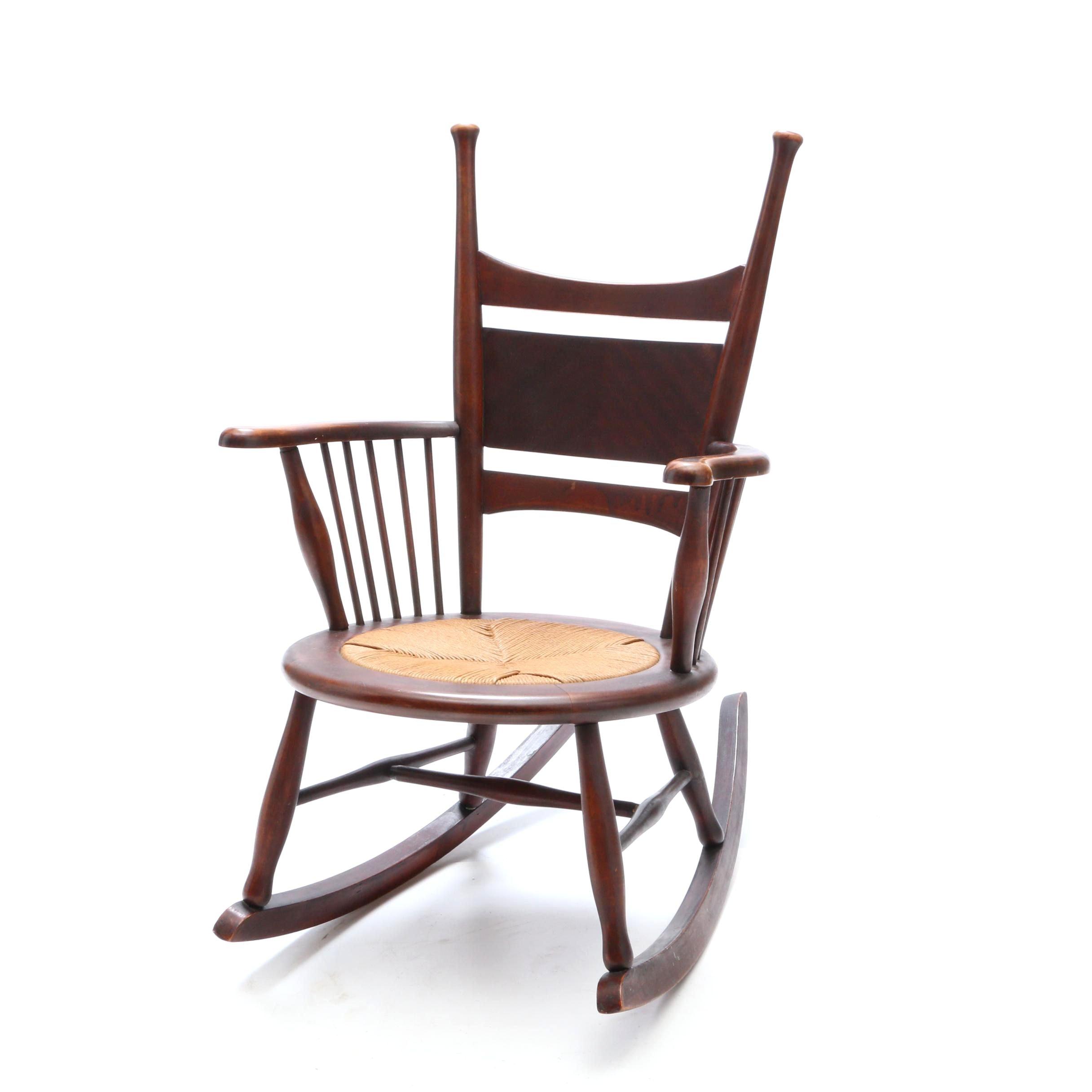 Antique Birch Rocking Chair