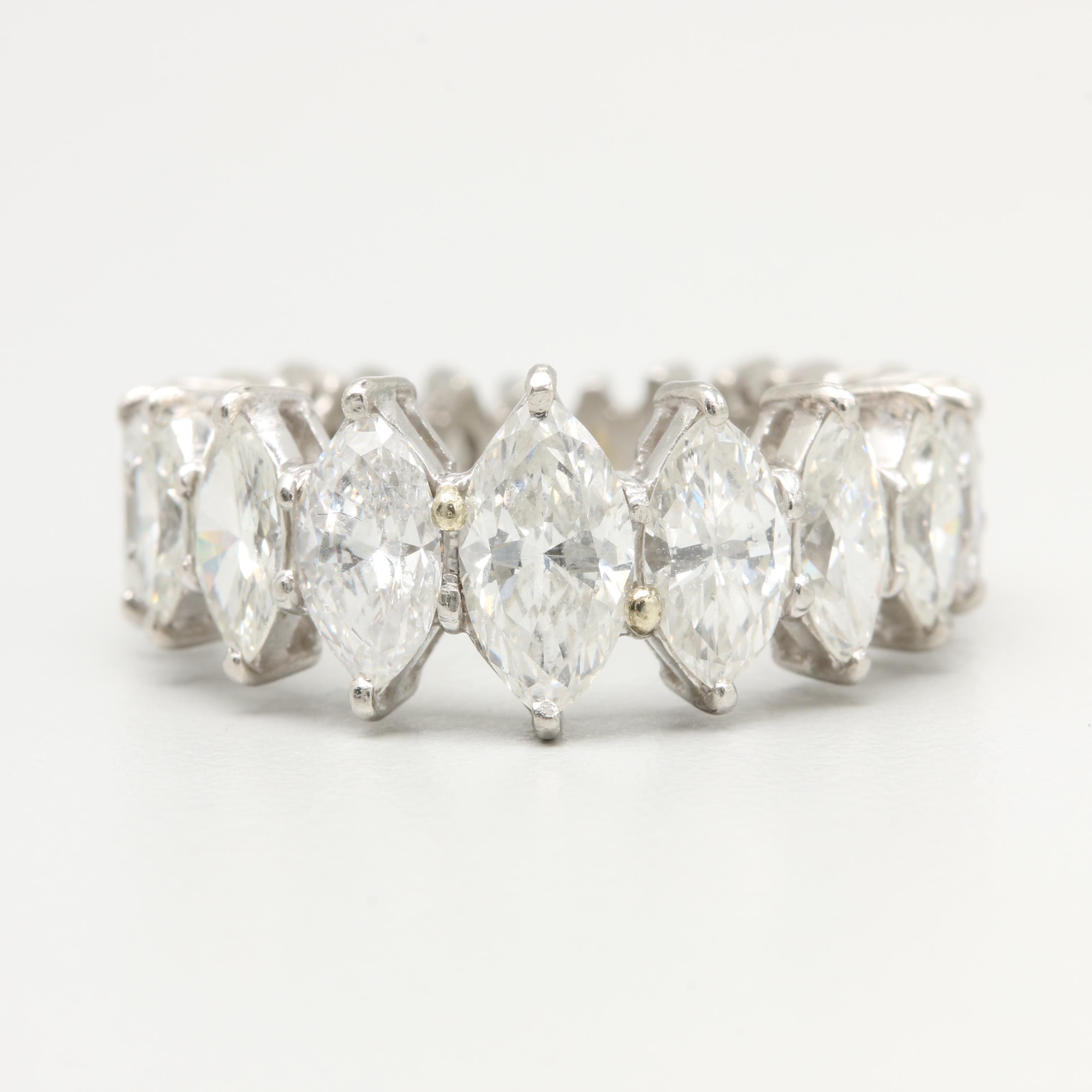 Platinum Palladium Alloy 4.23 CTW Diamond Ring