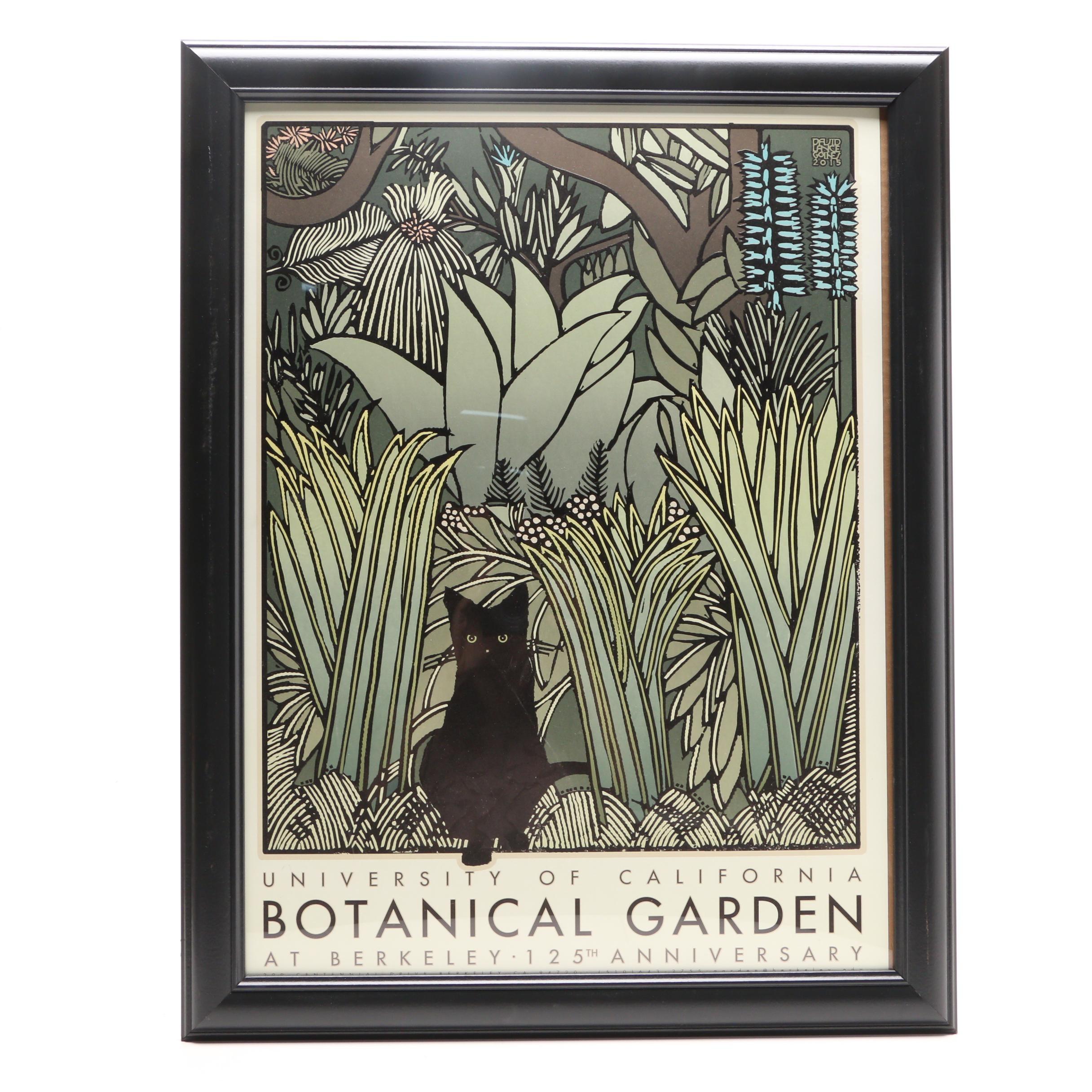 David Goines Serigraph Poster for University of California Bontanical Garden