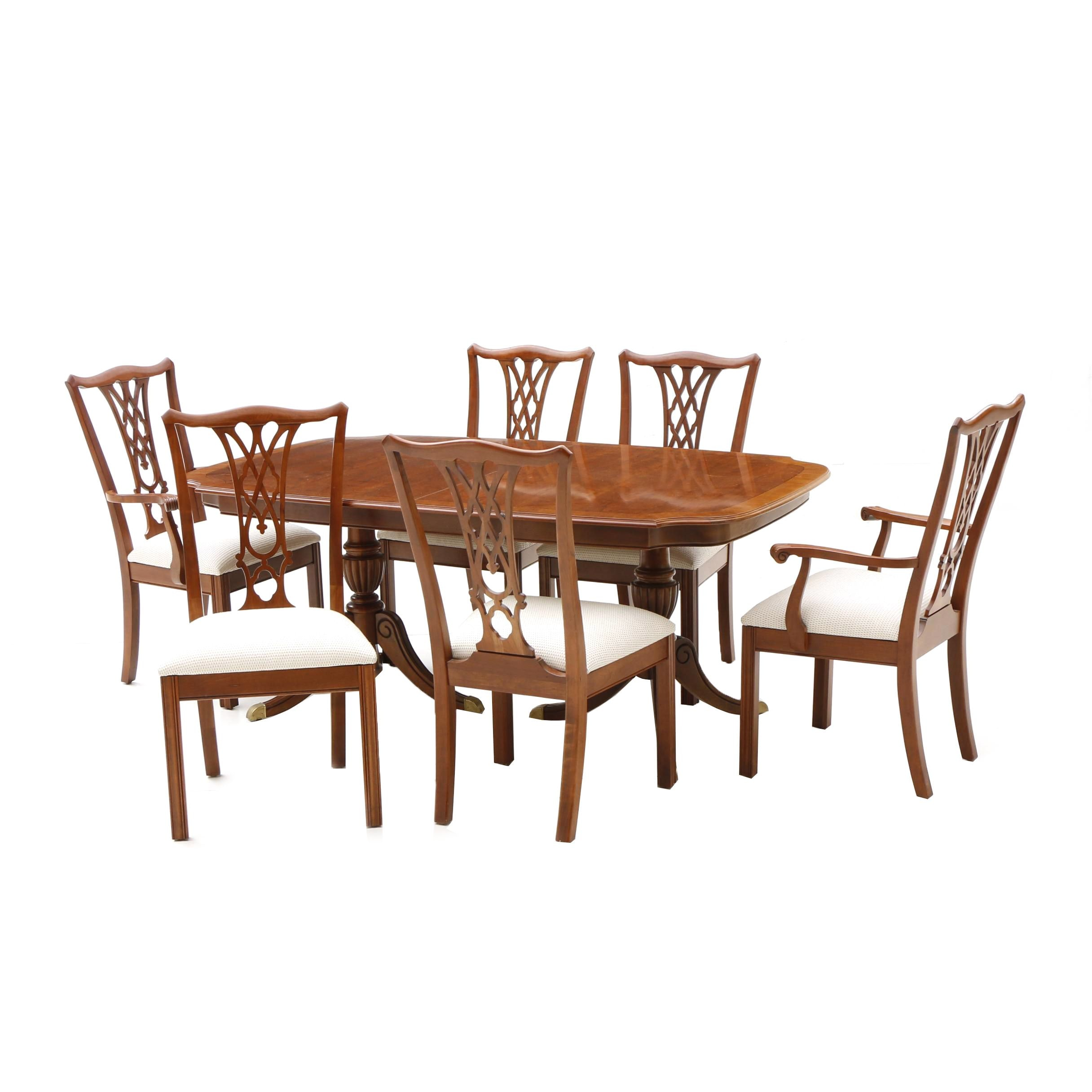 "Ethan Allen ""Regent's Park"" Dining Table and Chairs"