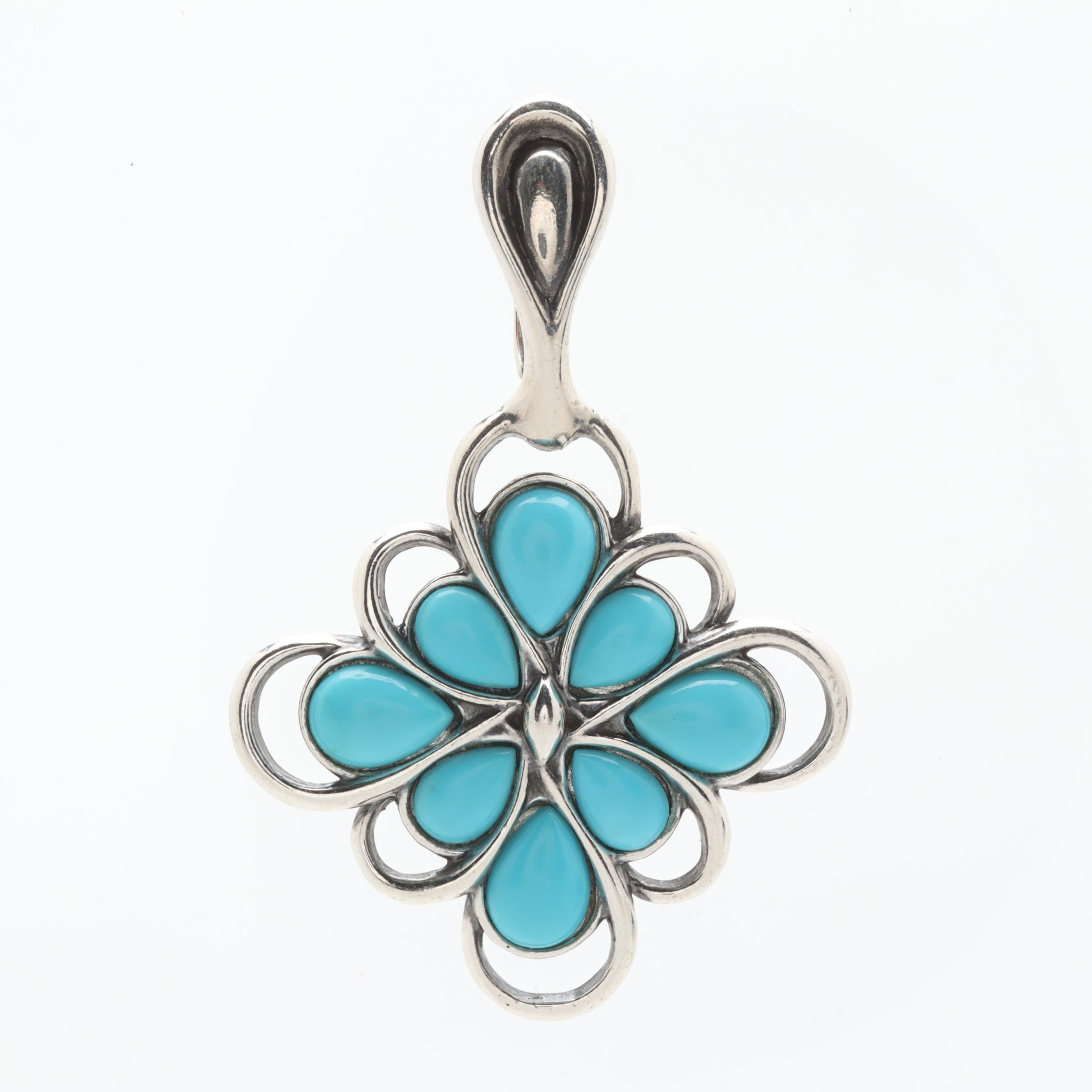 Carolyn Pollack Sterling Silver Turquoise Pendant