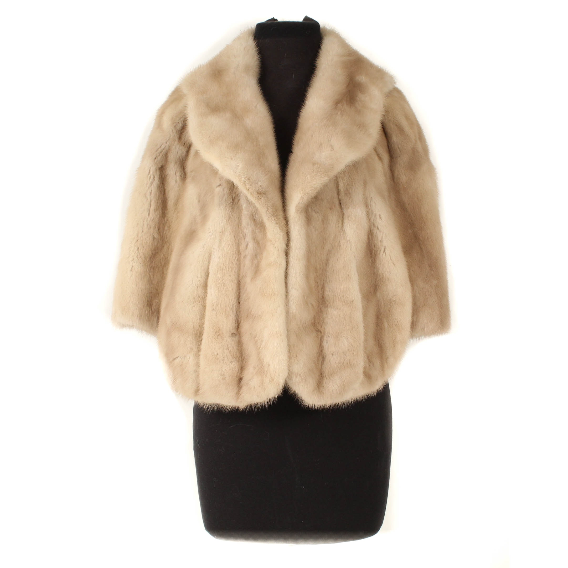 Vintage Blonde Mink Fur Capelet by L.L. Berger