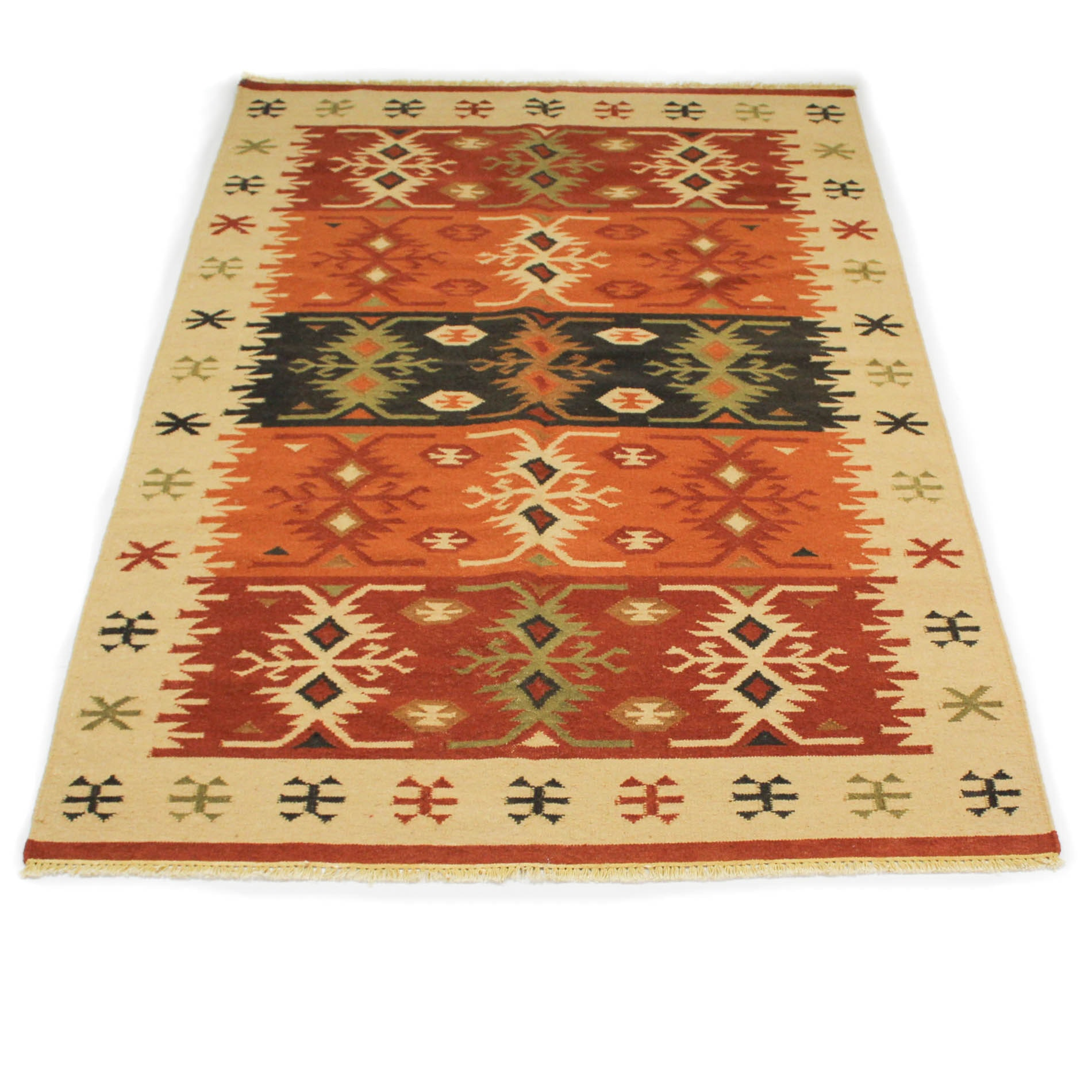 Handwoven Indian Kilim Area Rug