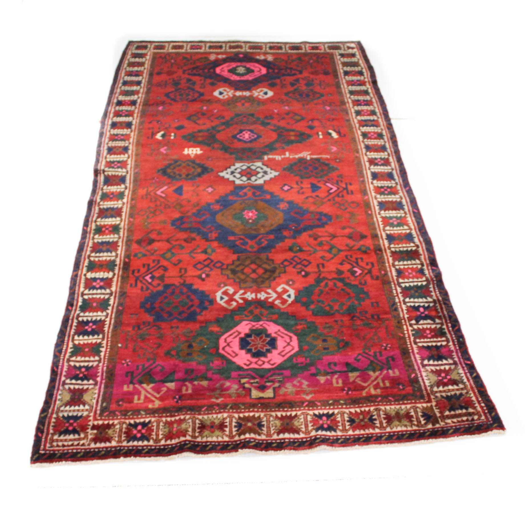 Vintage Hand-Knotted Persian Long Rug