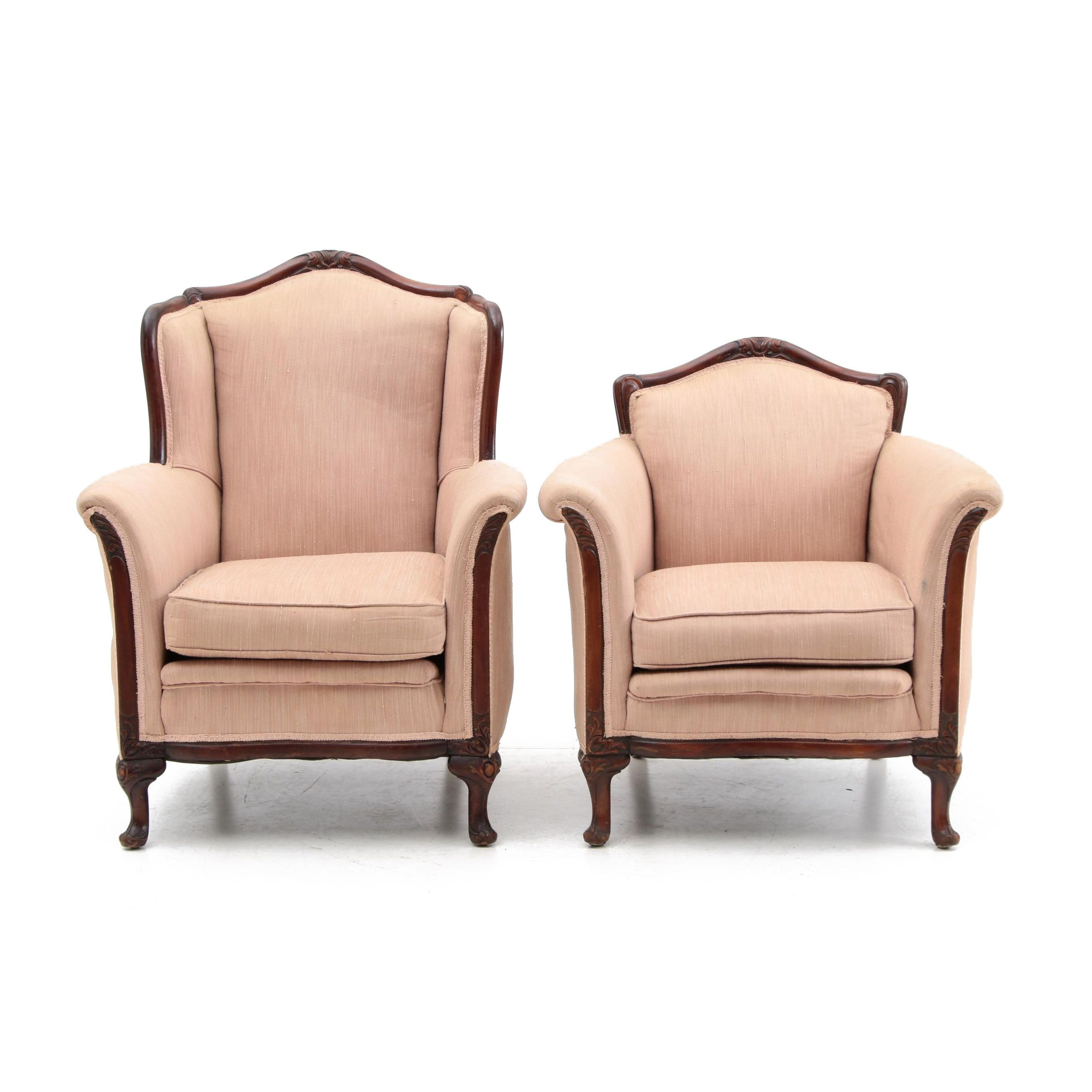Vintage French Provincial Style Arm Chairs