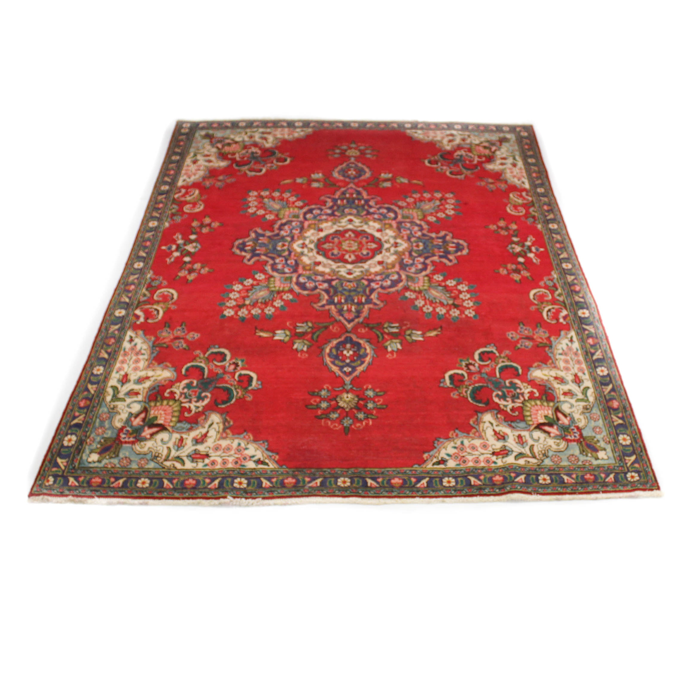Hand-Knotted Tabriz Room Size Rug