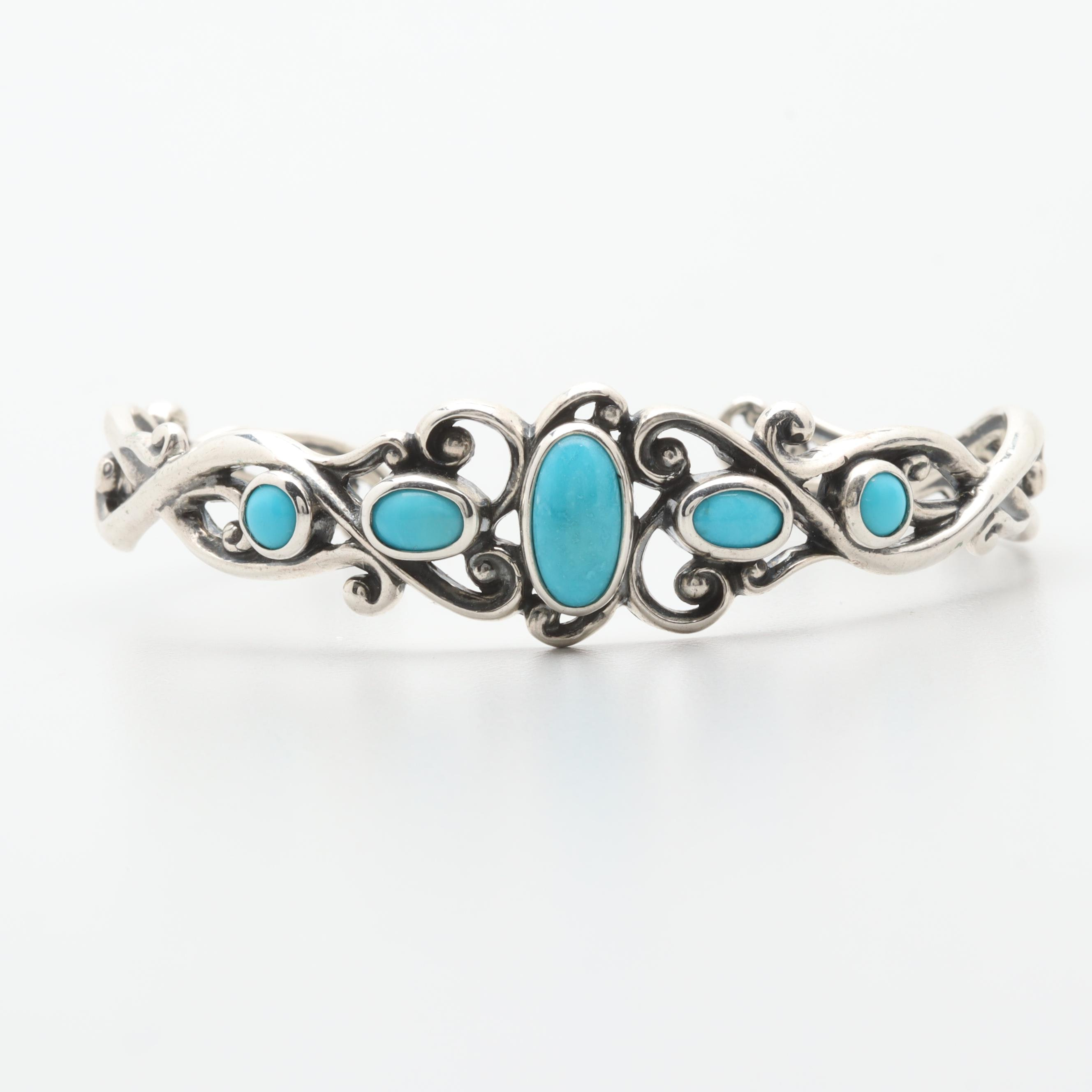 Carolyn Pollack Sterling Silver Turquoise Cuff Bracelet
