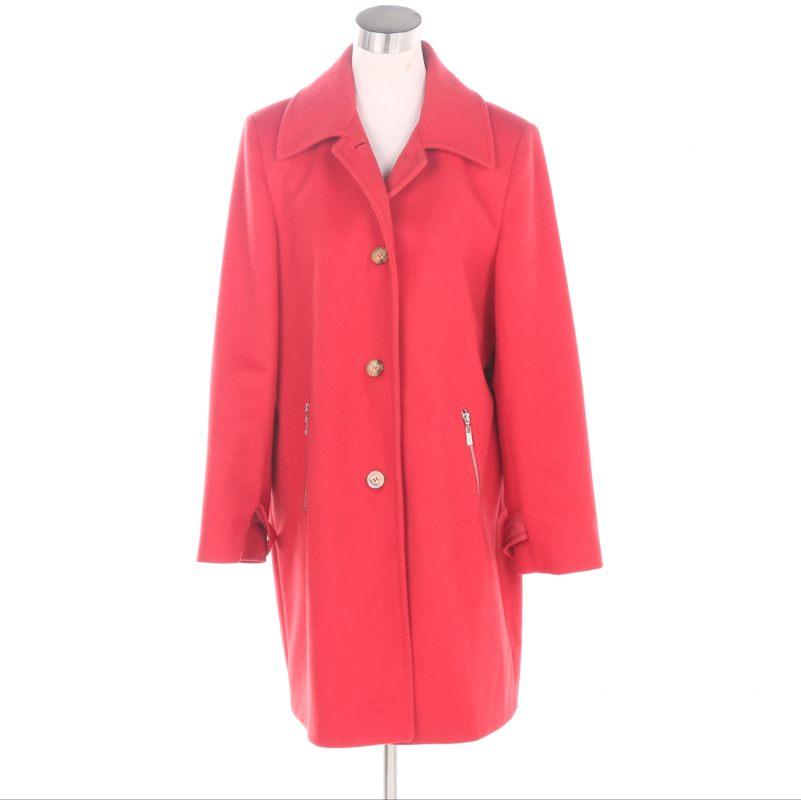Women's MICHAEL Michael Kors Red Wool Coat