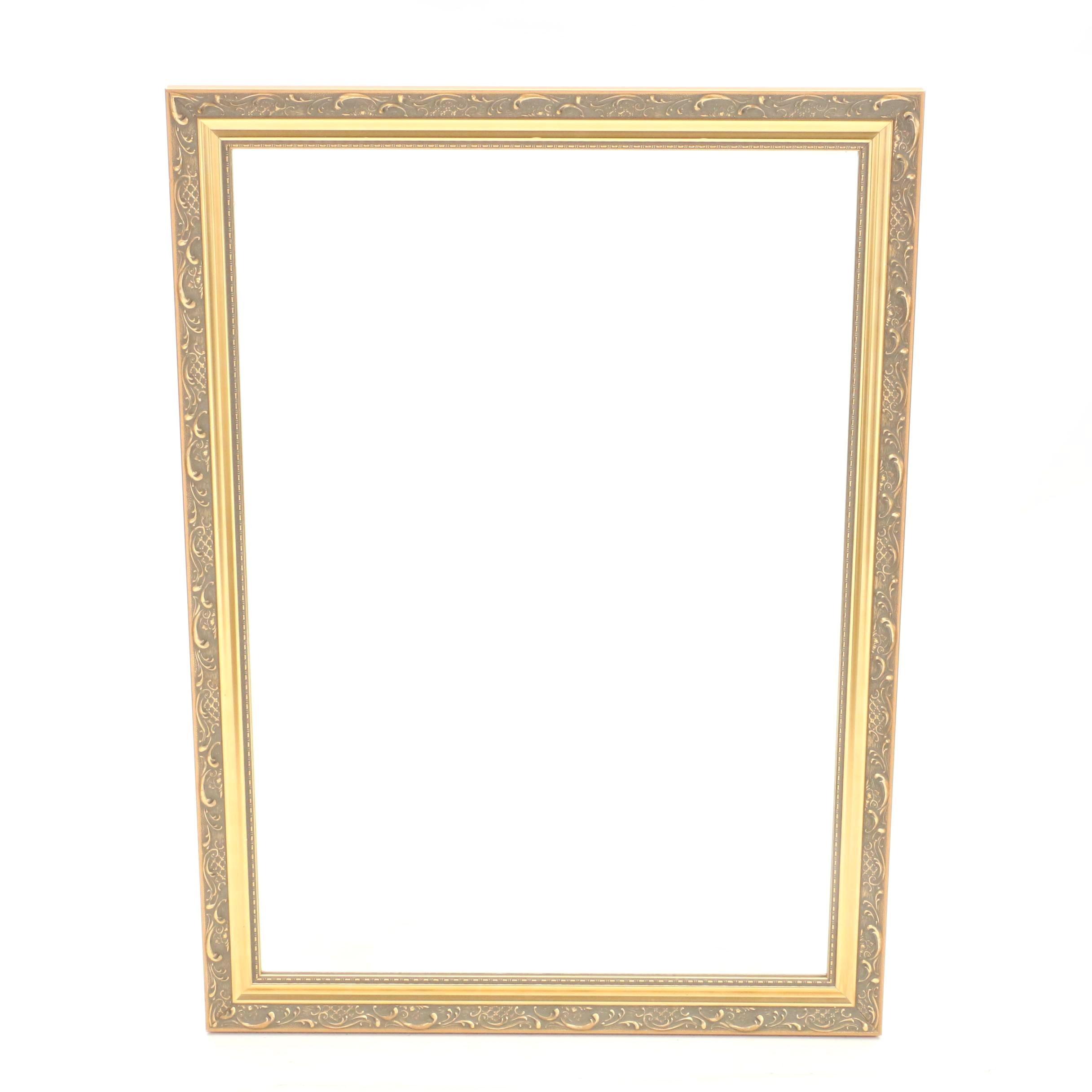 Decorative Gold Tone Wall Mirror by Carolina Mirror Company