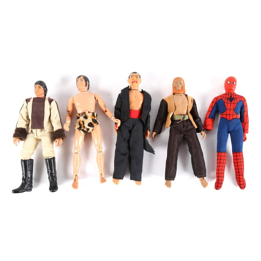 1970s Action Figures Including Spider Man