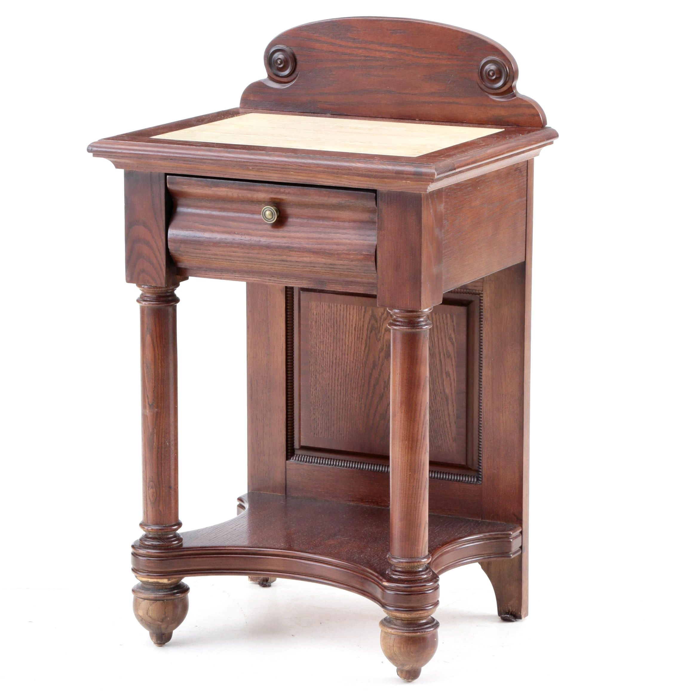 Federal Style Oak Accent Table