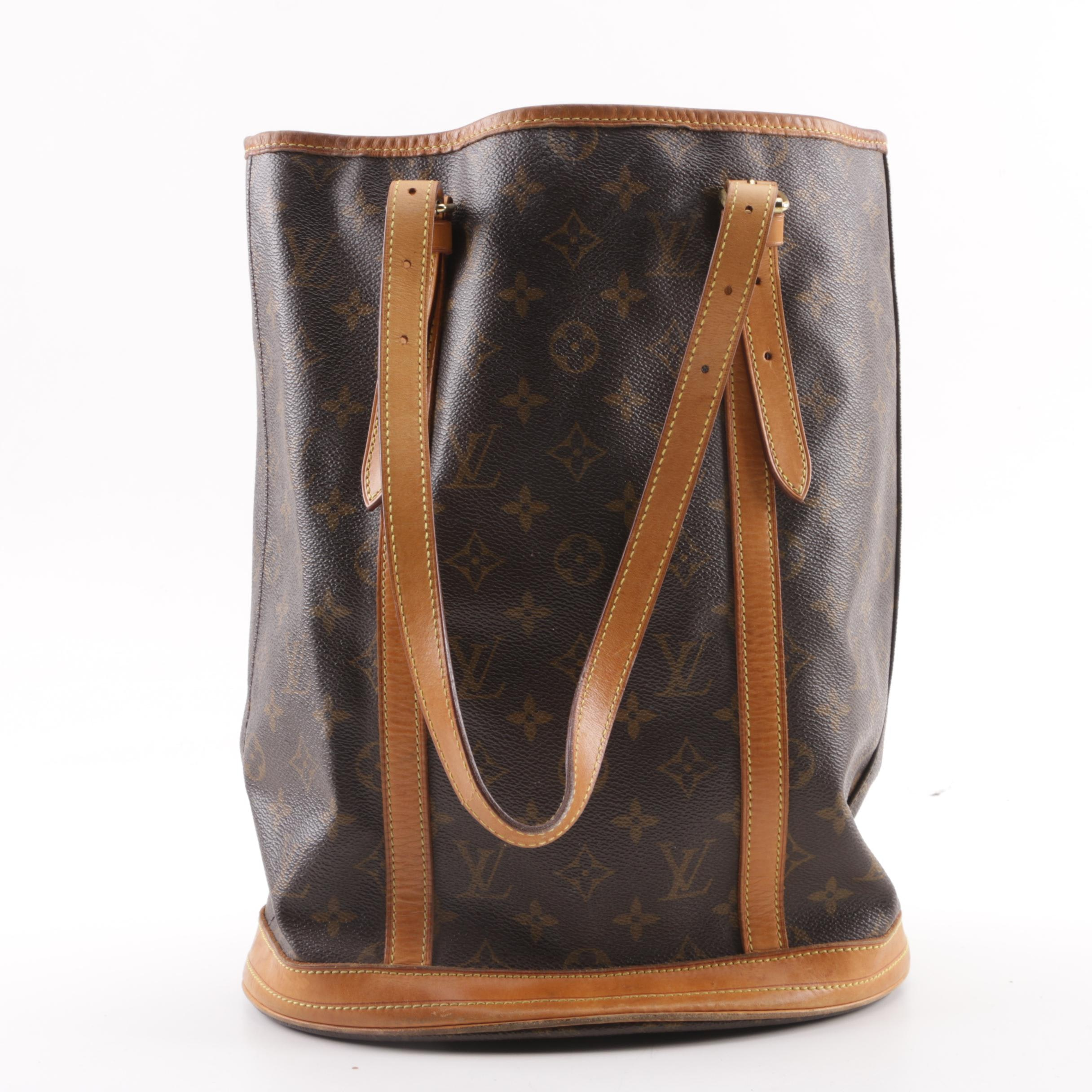 1998 Vintage Louis Vuitton Paris Monogram Canvas Bucket Bag