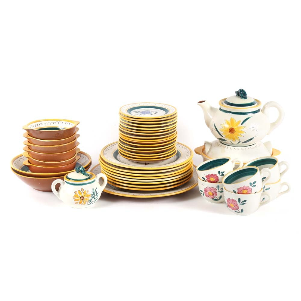 "Stangl Pottery ""Garden Flower"" Dinnerware Set"