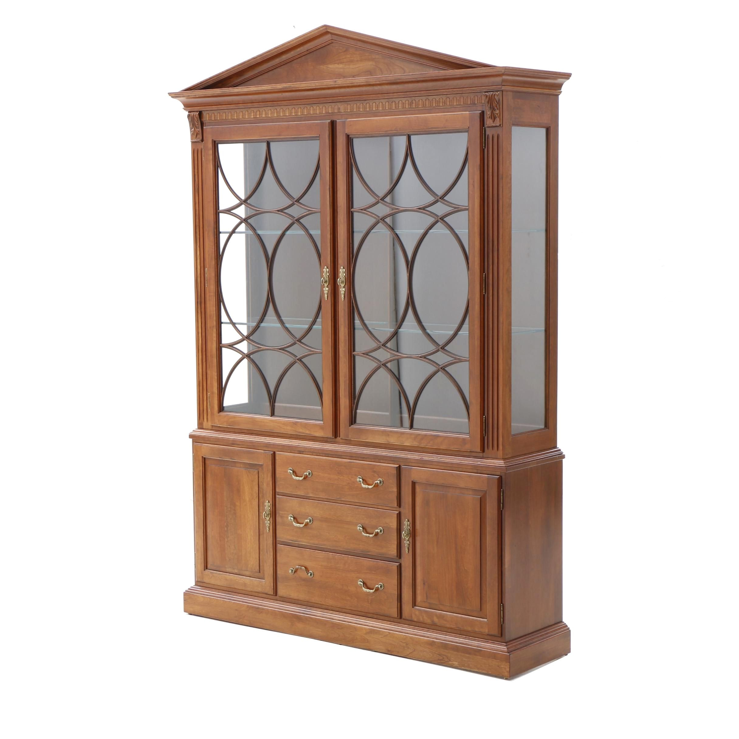 "Ethan Allen ""Regents Park"" China Cabinet in Cherry"