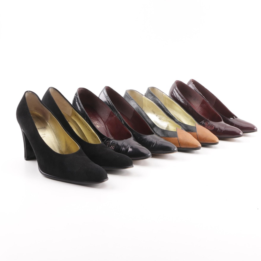 1c51775fe408 Women s Leather and Suede Pumps including Bruno Magli and Mr. Seymour   EBTH