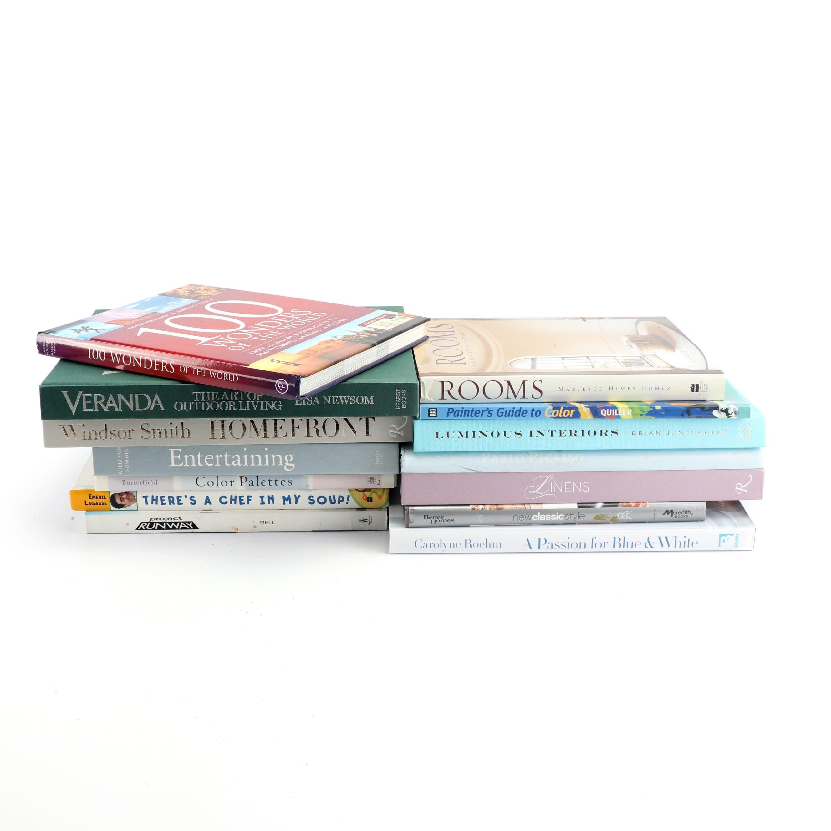 Books including Art, Decor and Entertaining