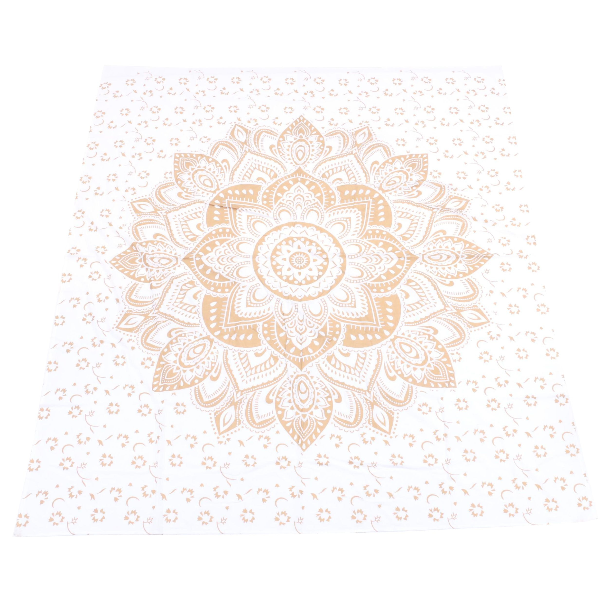 Indian Cotton Bed Cover with Mandala
