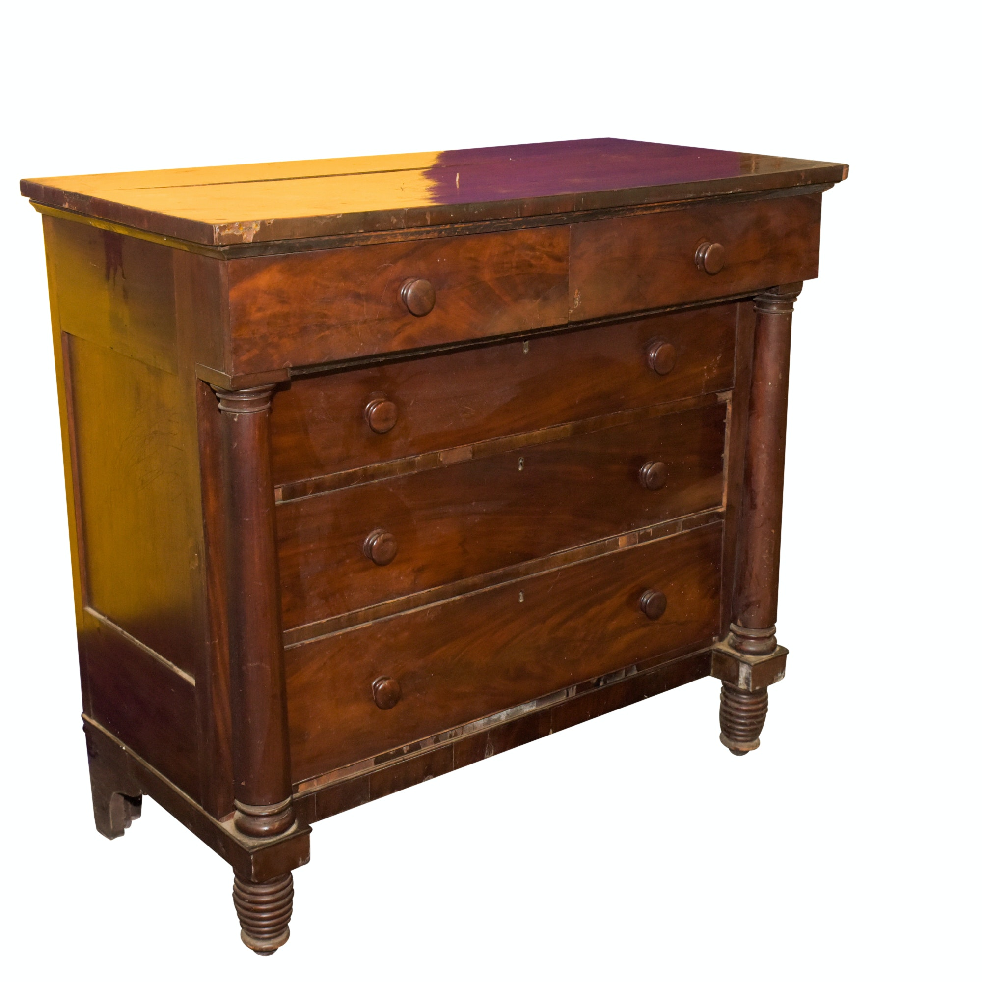 Vintage Empire Style Mahogany Chest of Drawers