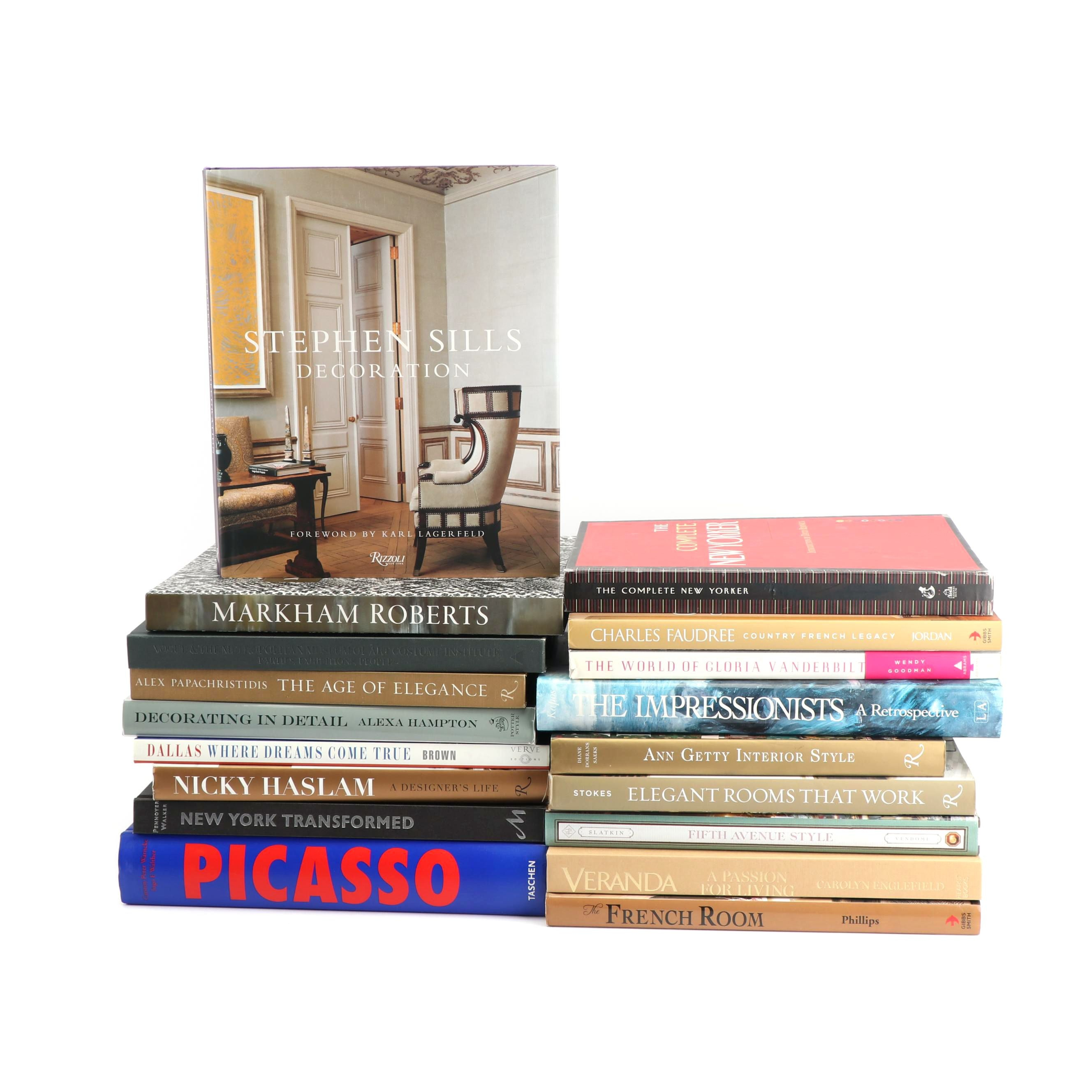 Books including Art, Design and Fashion
