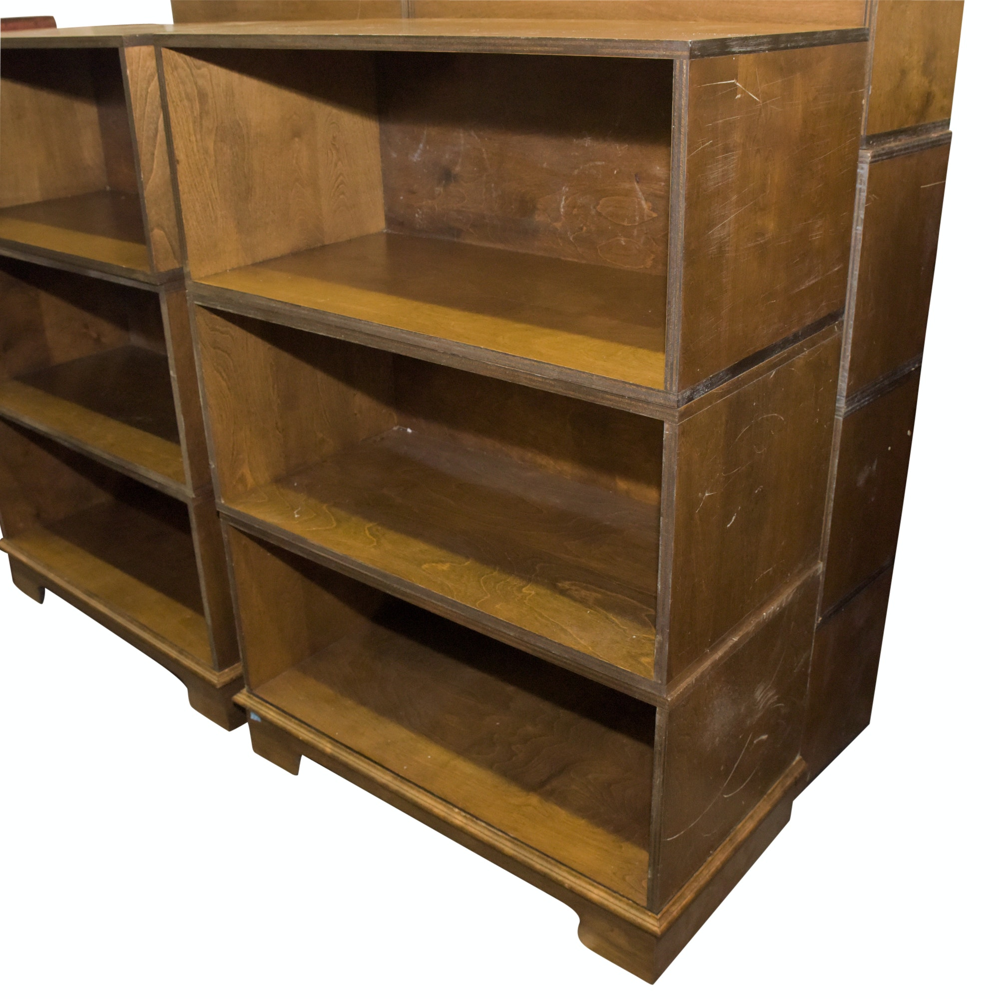Pair of Modular Wooden Bookcases