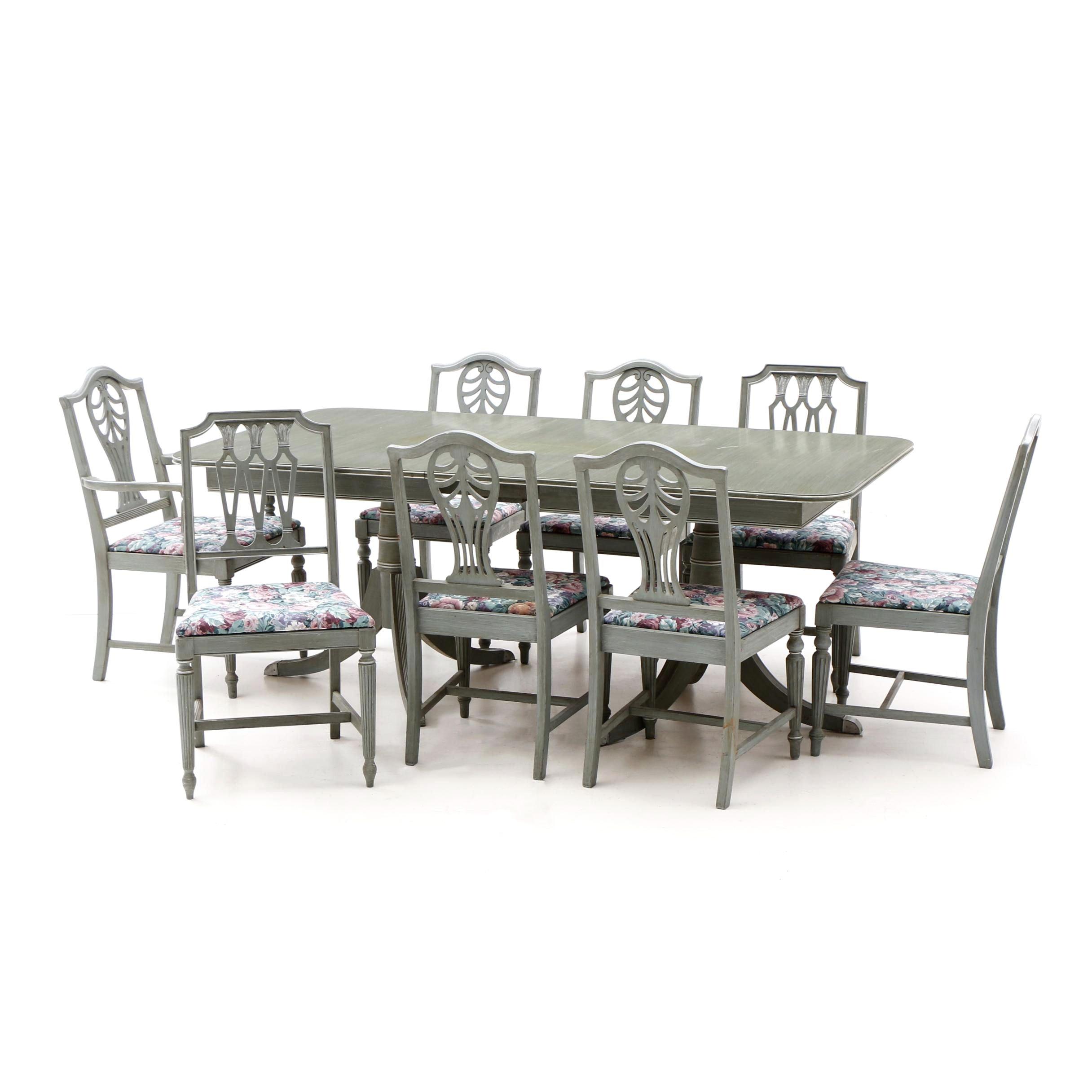 Duncan Phyfe Style Mahogany Dining Set