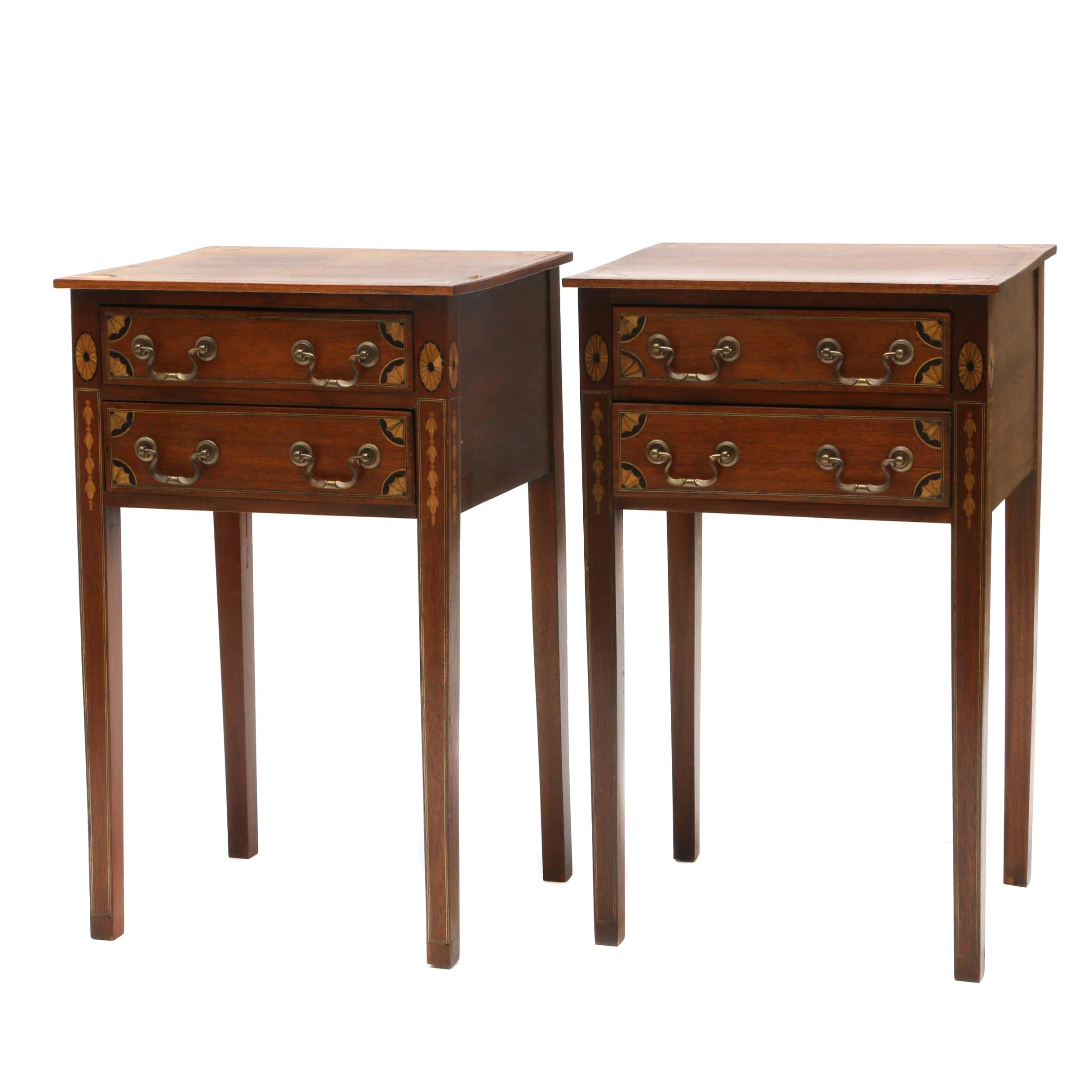 Mahogany Parquetry Side Tables