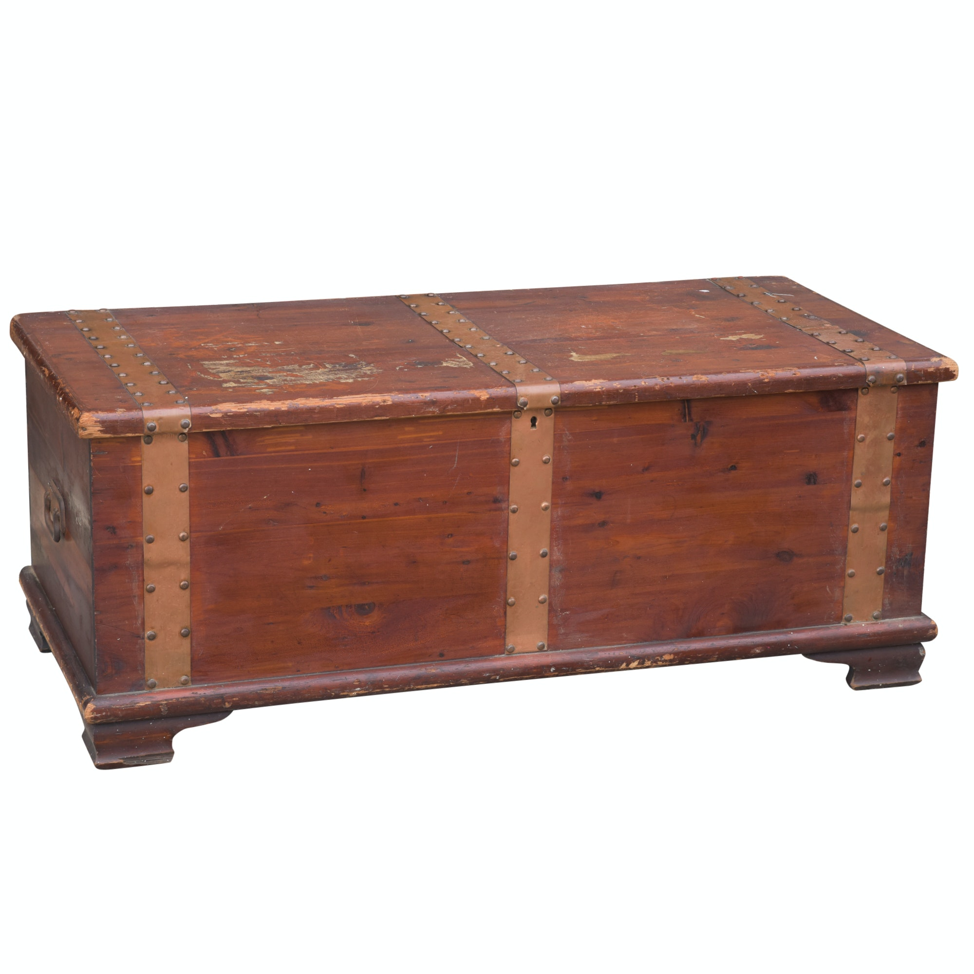 Cedar Blanket Chest with Metal Banding by Memphis Furniture Co.