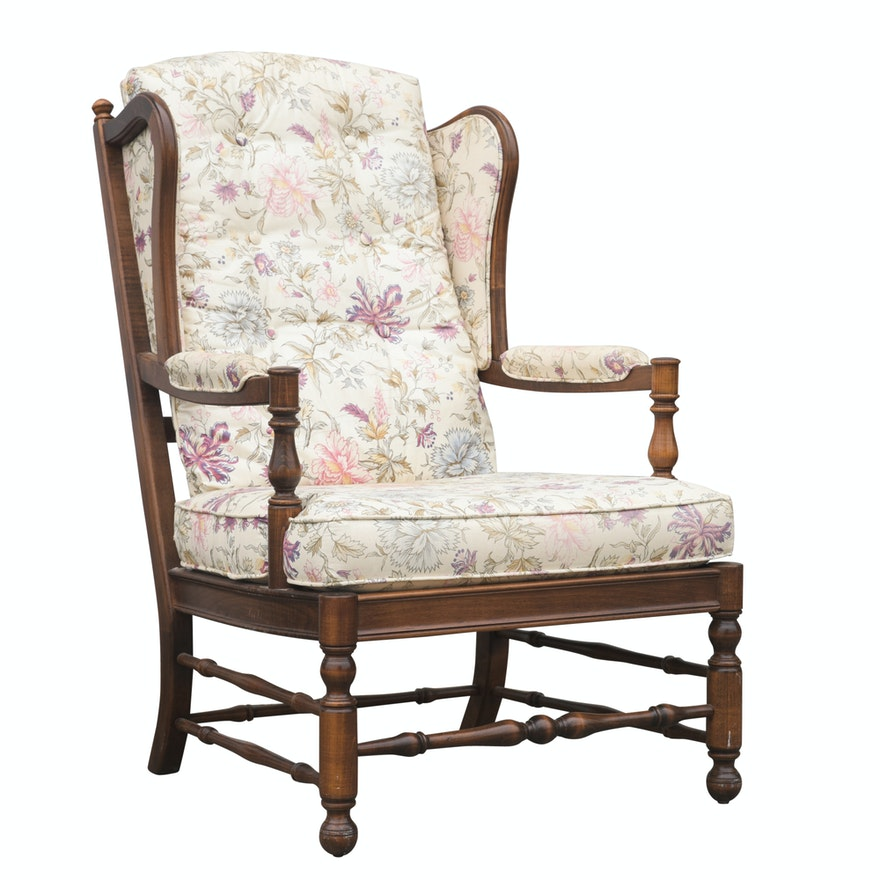 """Ethan Allen """"Traditional Classics"""" Floral Upholstered ..."""