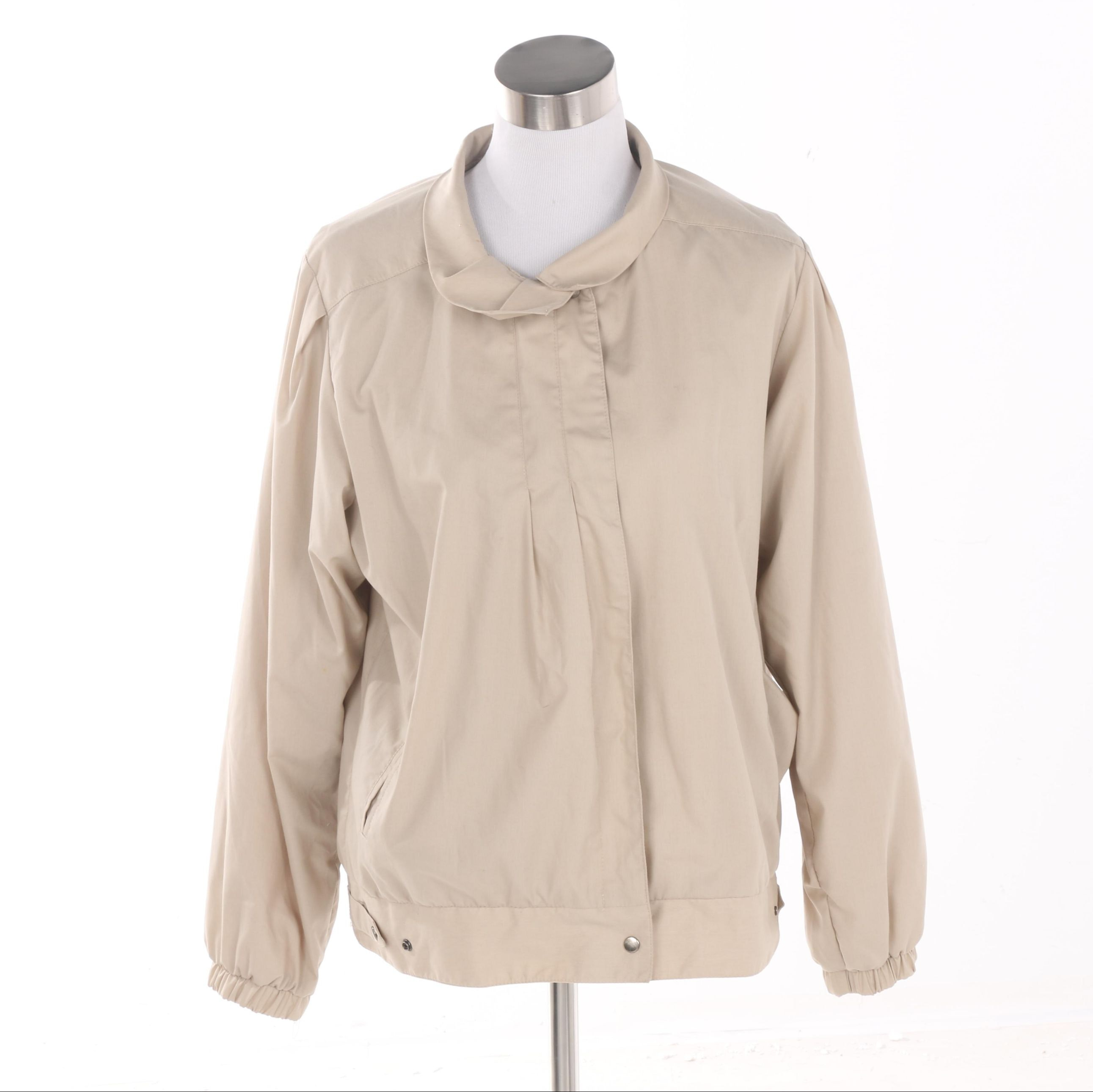 Women's London Fog Khaki Cotton Jacket