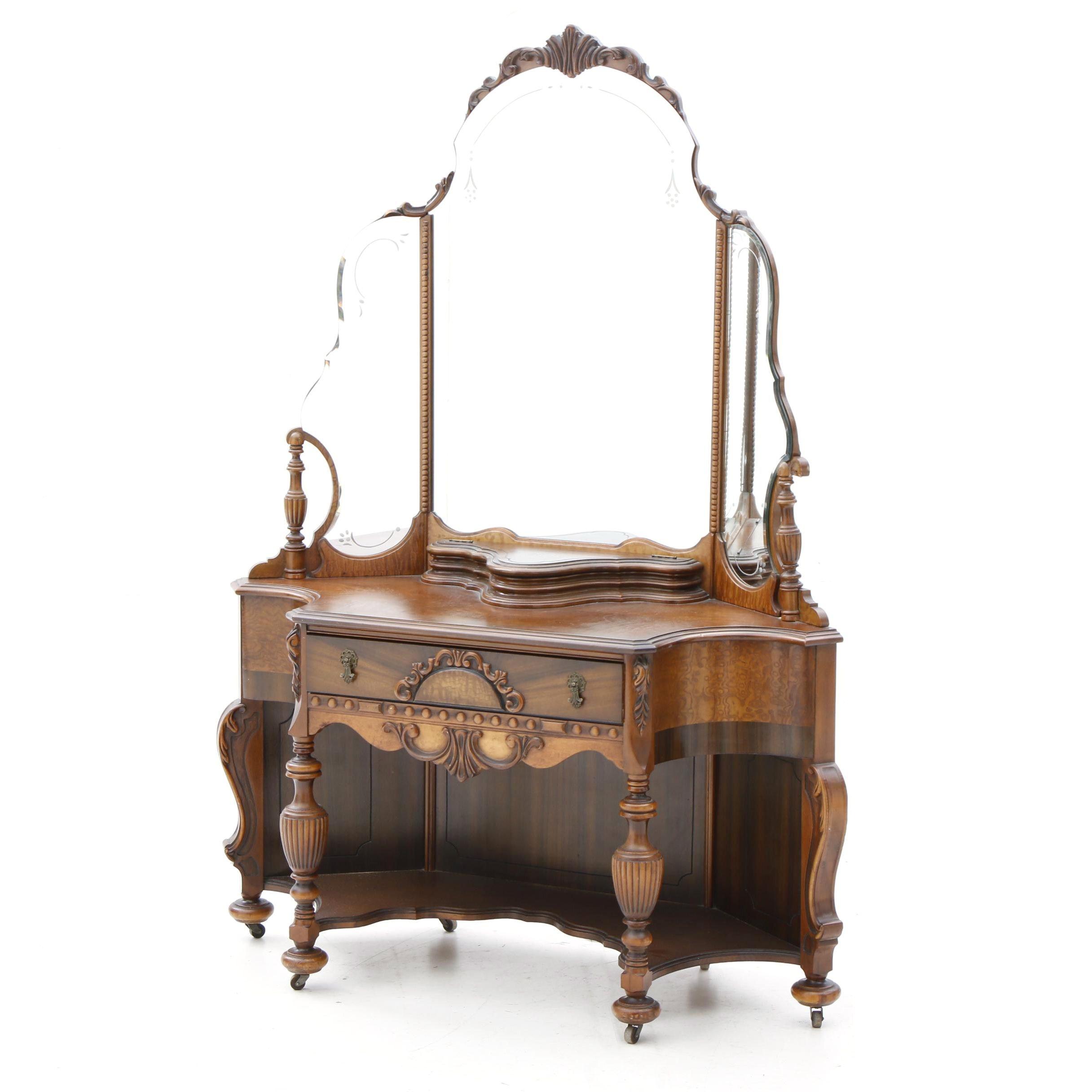 Antique Walnut Vanity