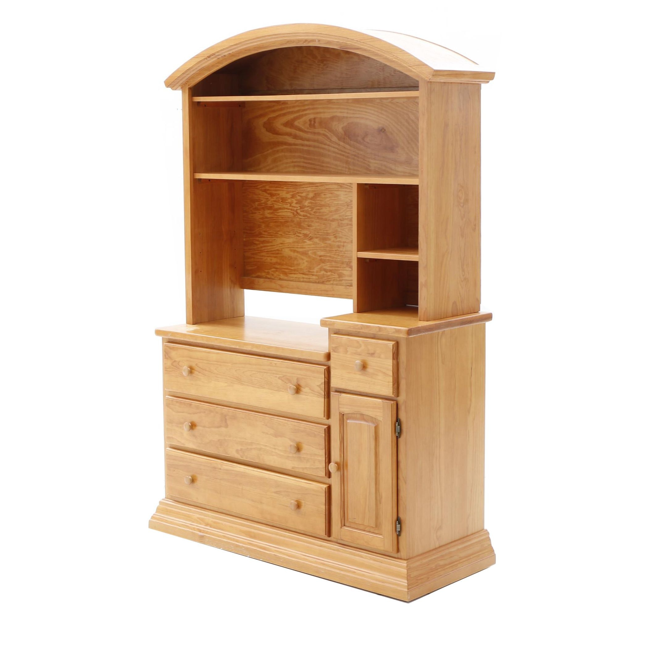 Pine Bookcase Hutch by Child Craft Furniture