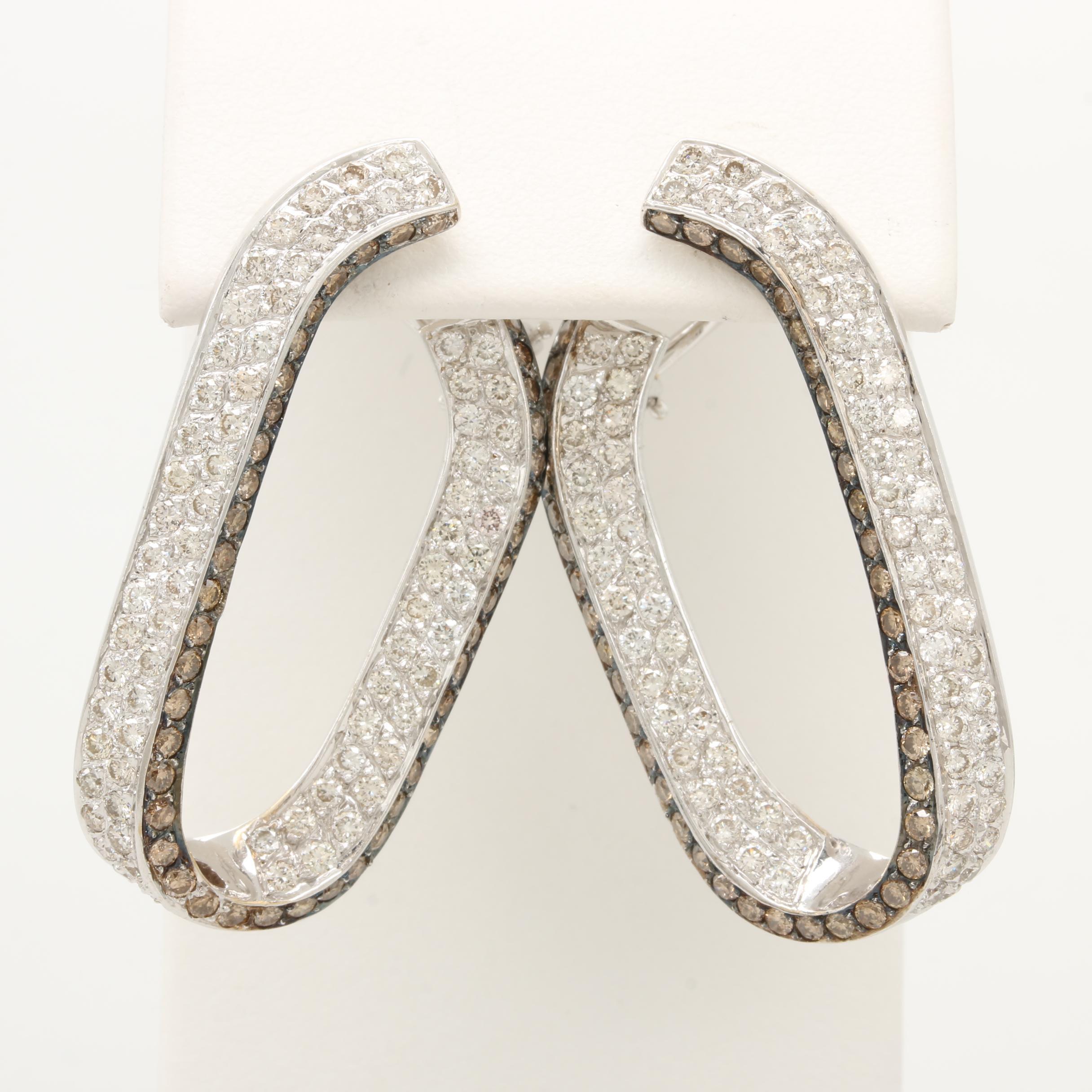 18K White Gold 4.12 CTW Diamond Earrings