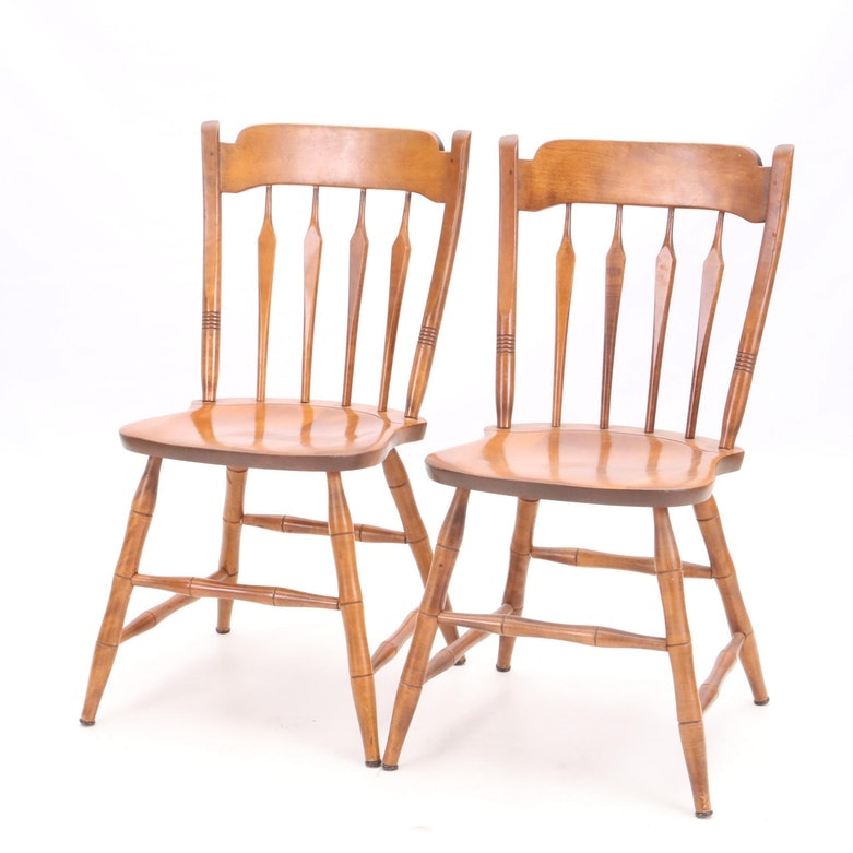 S. Bent Brothers Maple Side Chairs ...